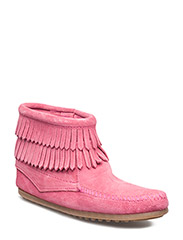 D Fringe Side Zip K - HOT PINK