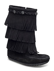 3-Layer Fringe Boot K - BLACK