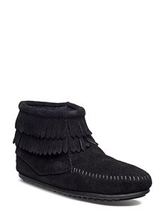 D Fringe Side Zip K - BLACK
