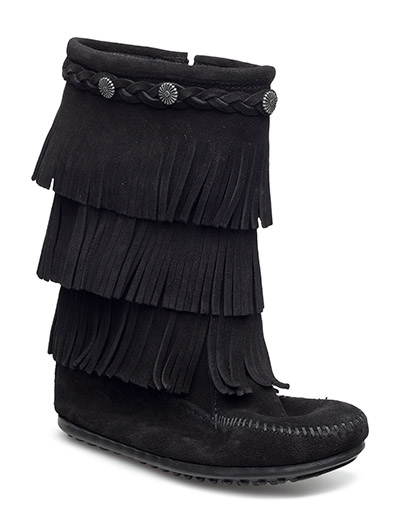 3-Layer Fringe Boot K - BLACK