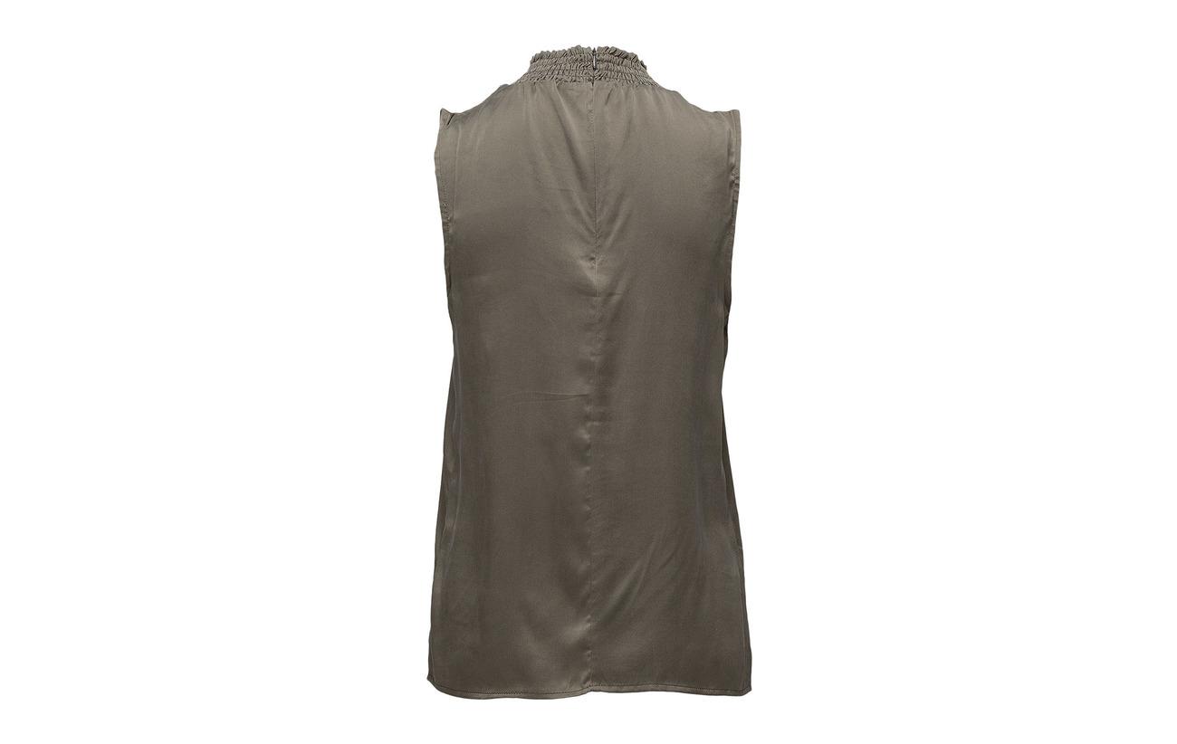 100 Minus Blouse Silk Green Soie Gables Ea qOCq0