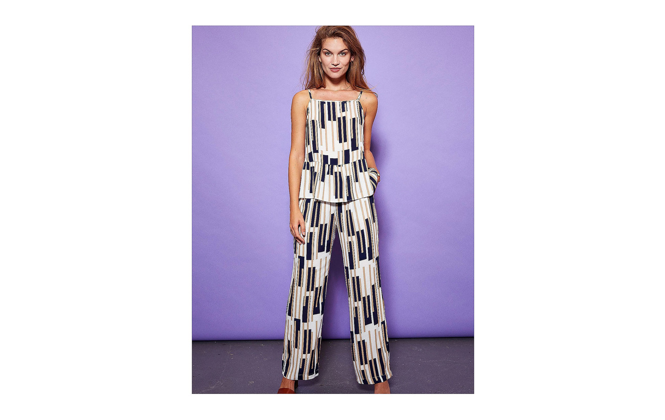 Broken Print 100 Stripe Minus Lai Pants Viscose nSxx47EwA
