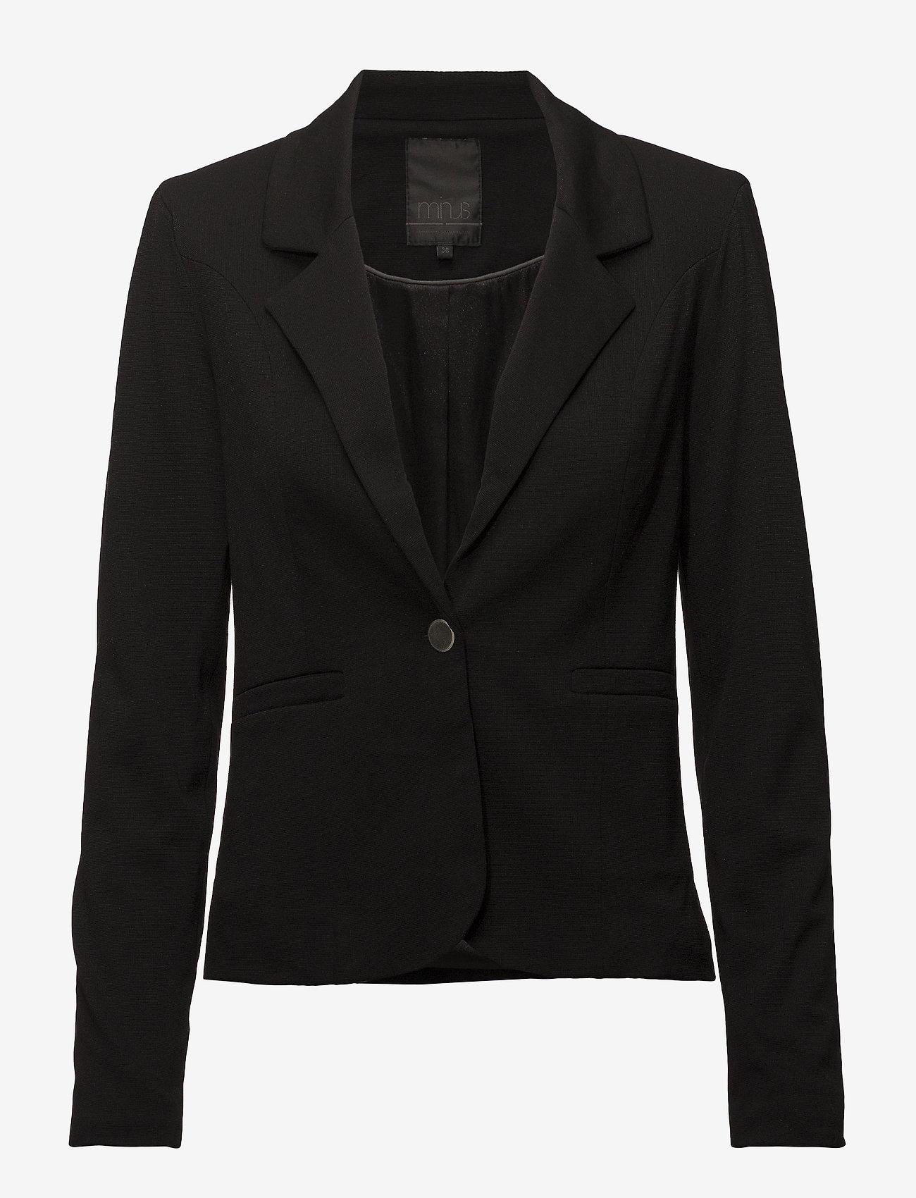 Minus - Carmen blazer - blazers - black - 0
