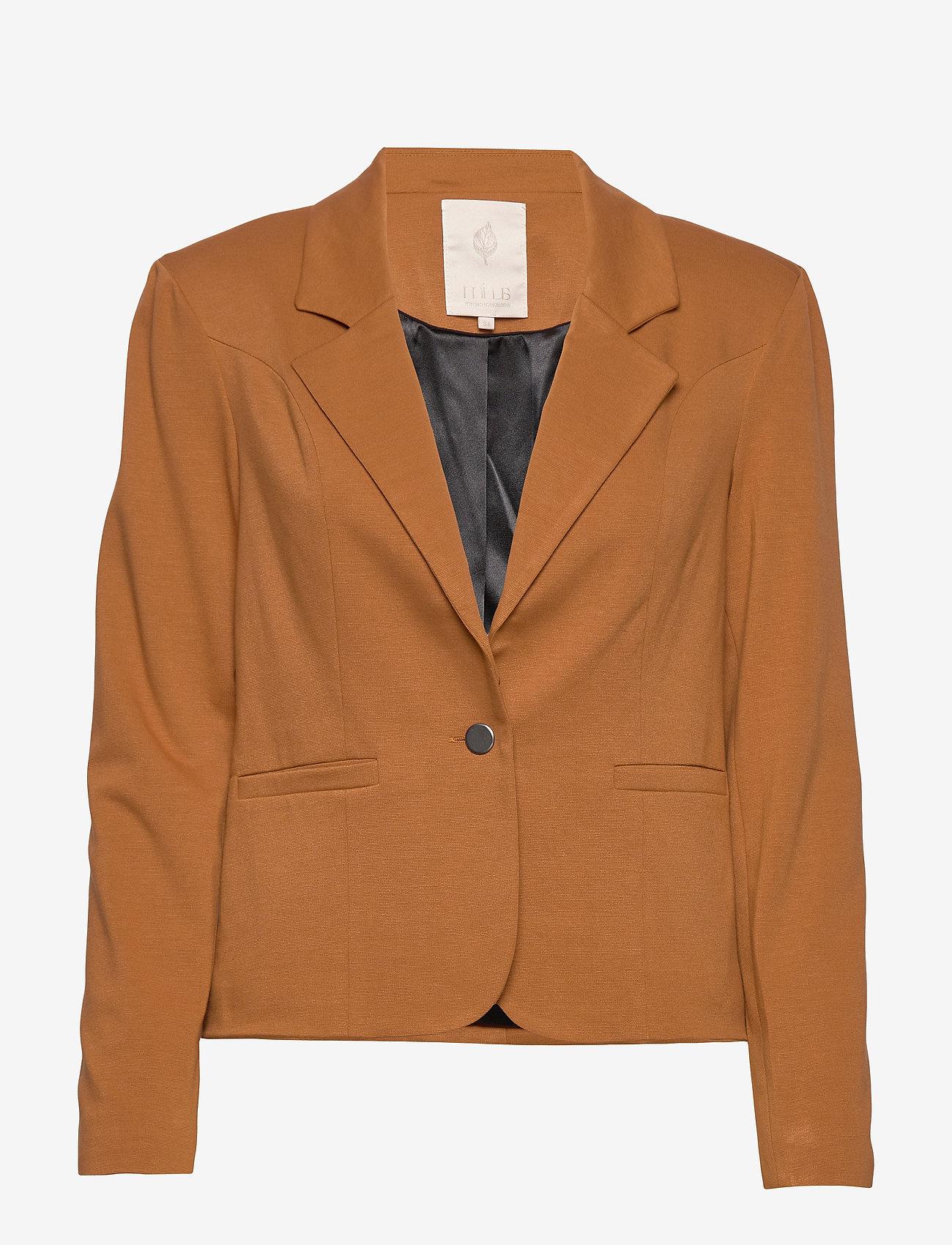 Minus - Carmen blazer - blazers - brown sugar - 0