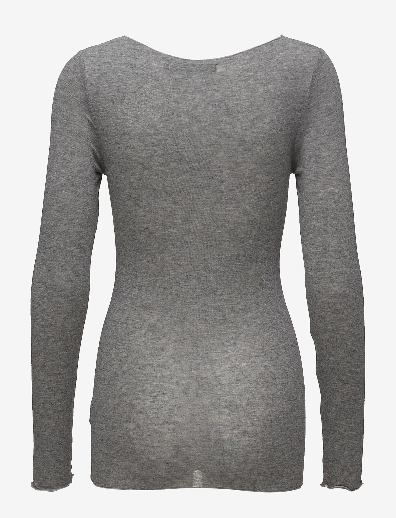 Minus - Claudia top - langærmede toppe - light grey melange - 1