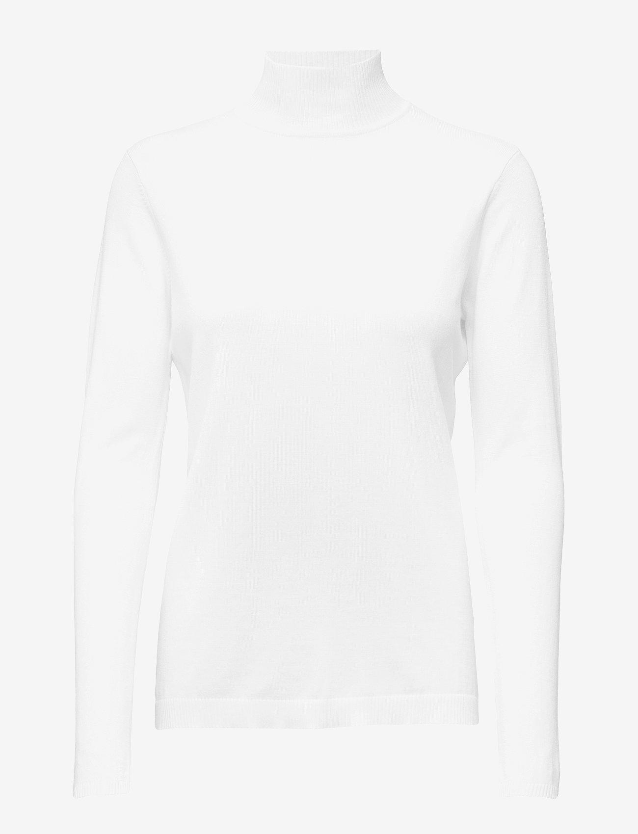 Minus - Lana roll neck knit - rullekraver - broken white - 0