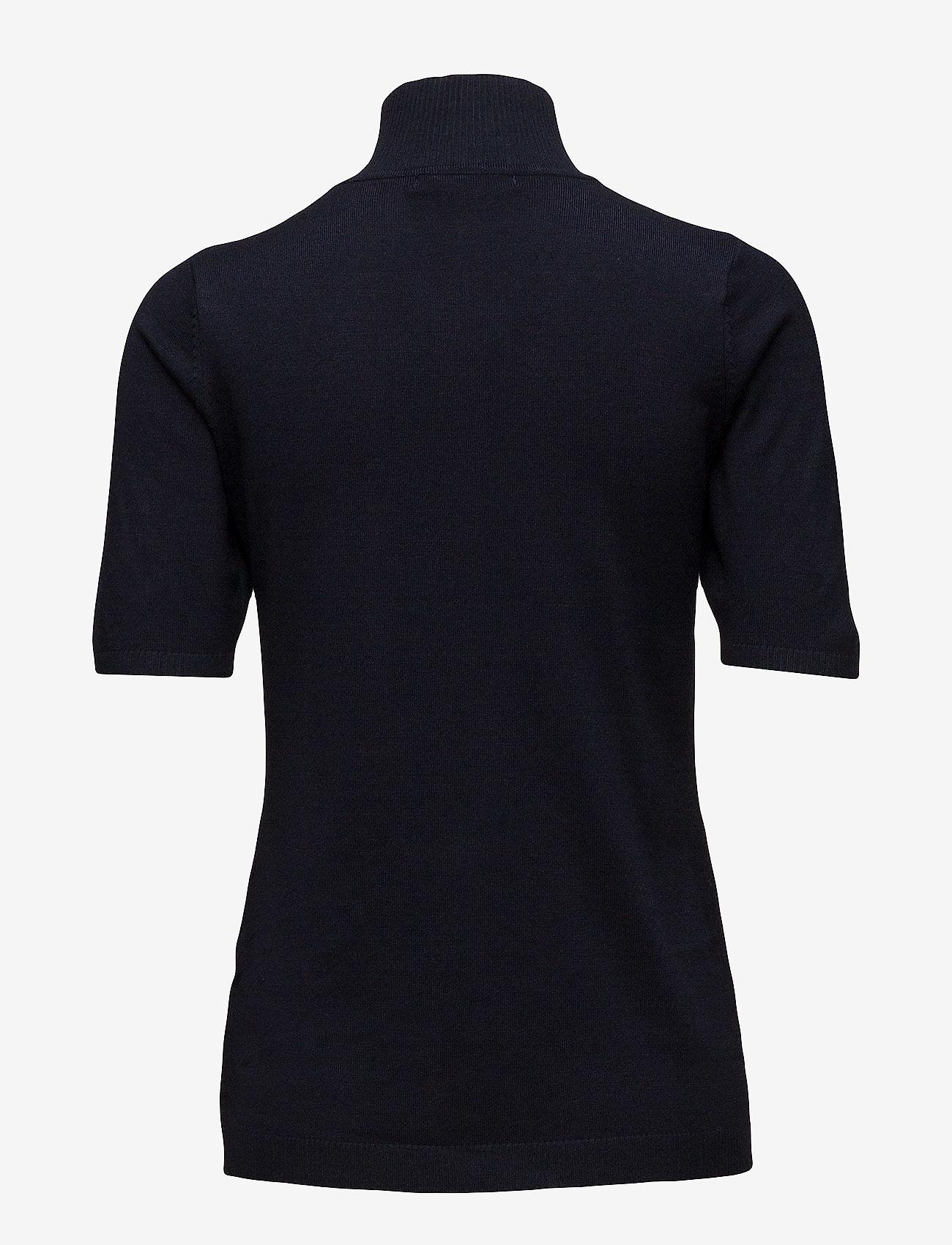 Minus - Lima roll neck knit - strikkede toppe - black iris solid - 1