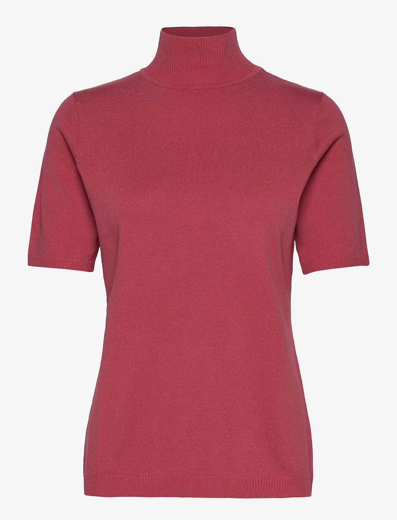Minus - Lima roll neck knit - strikkede toppe - pink lemonade - 0