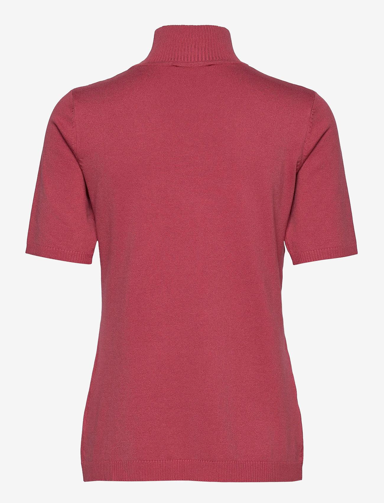 Minus - Lima roll neck knit - strikkede toppe - pink lemonade - 1
