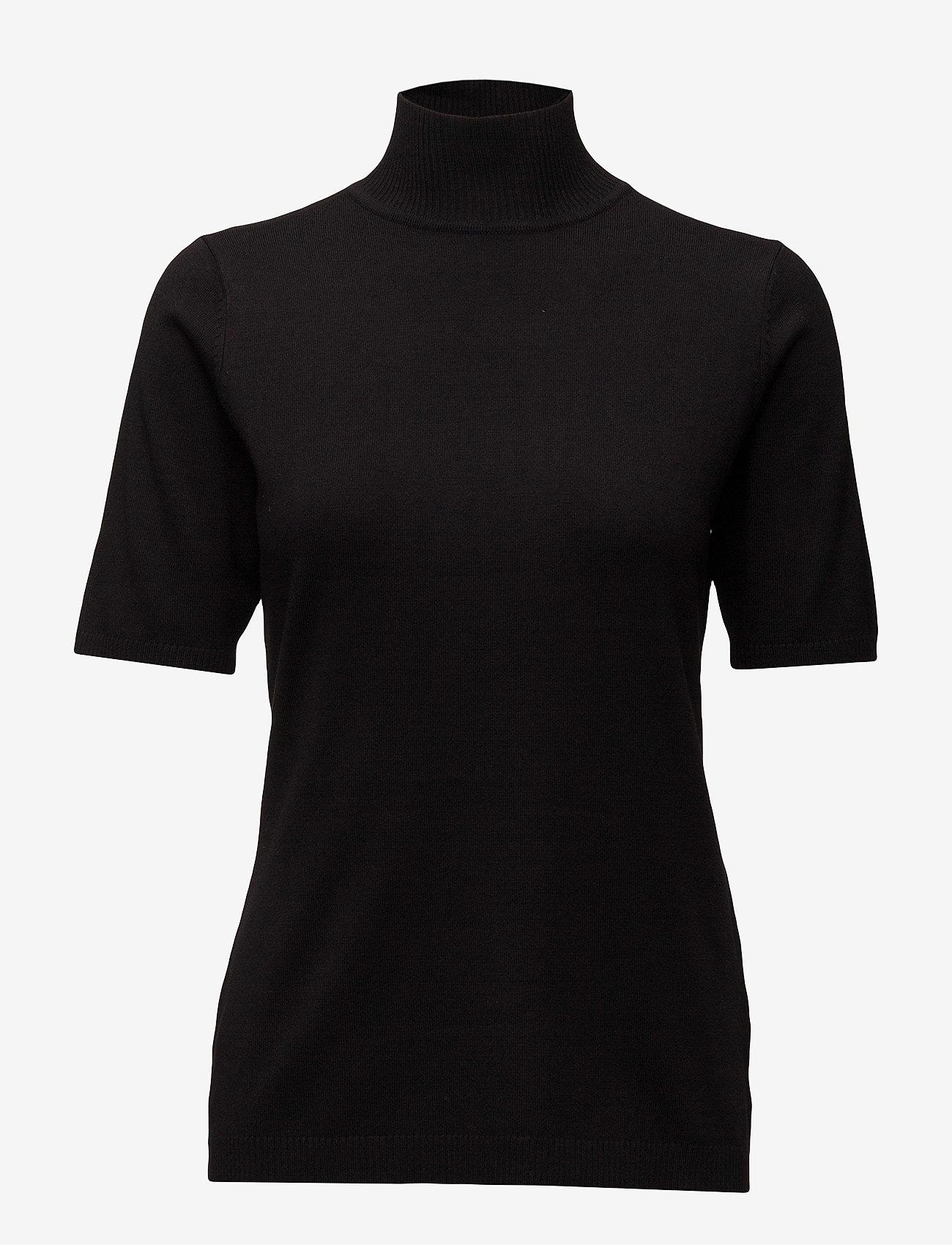 Minus - Lima roll neck knit - strikkede toppe - sort - 1