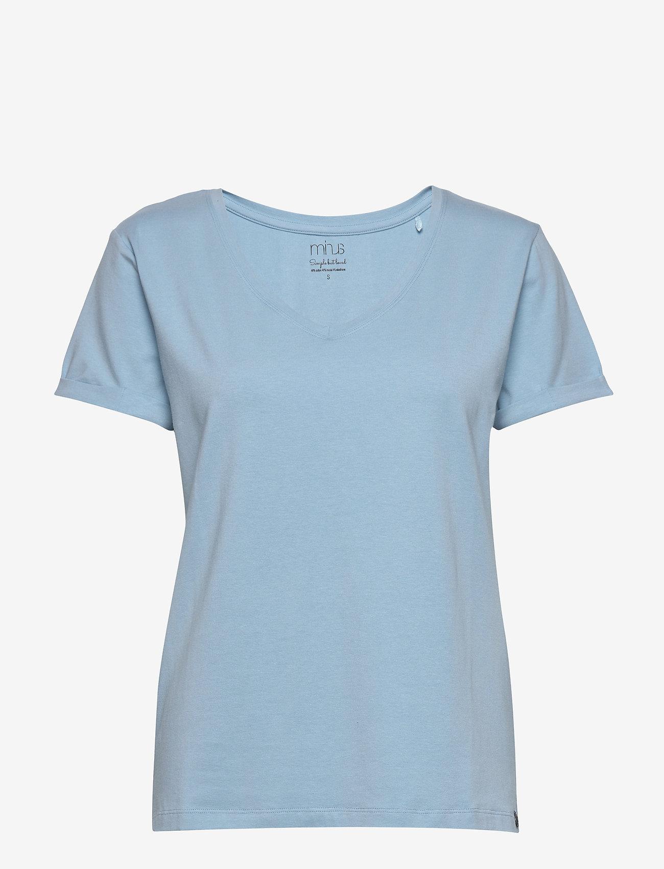 Minus - Adele tee - t-shirts - bounty blue - 0