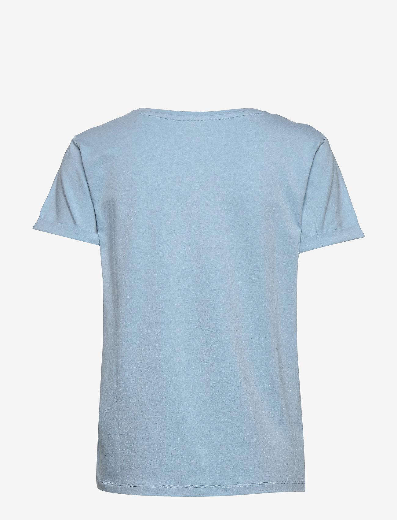Minus - Adele tee - t-shirts - bounty blue - 1