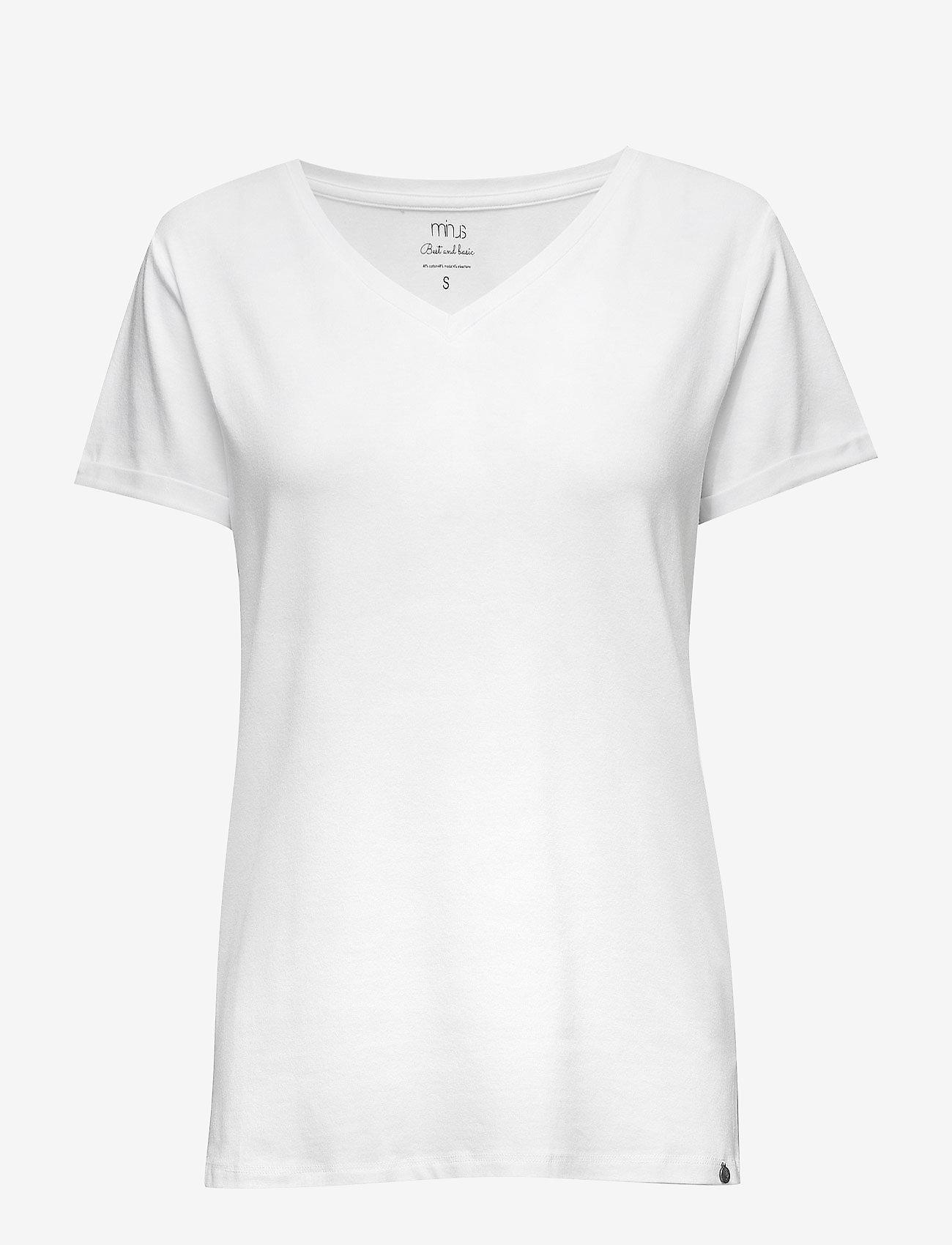 Minus - Adele tee - t-shirts - white - 0