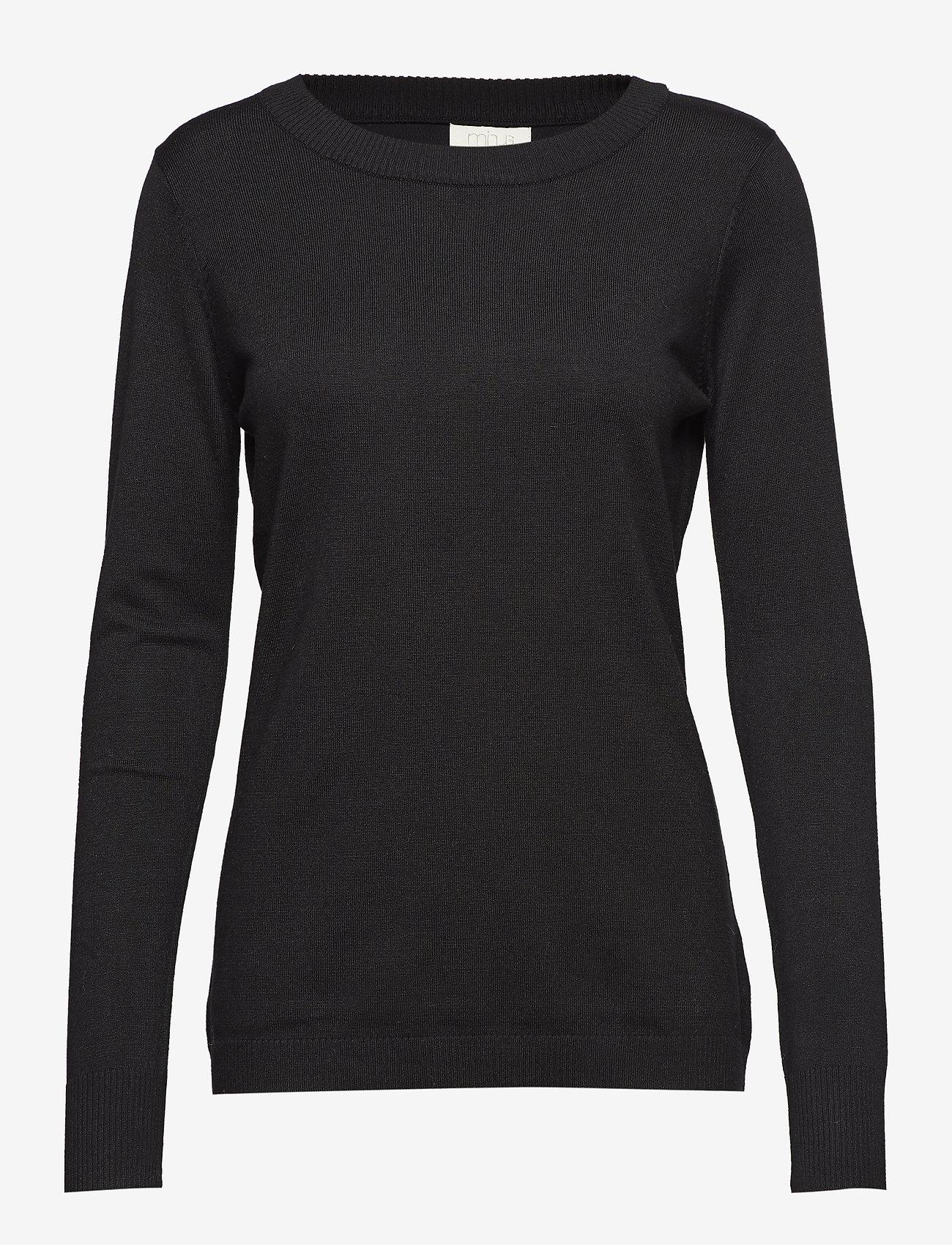 Minus - Rilla pullover - gensere - black - 0