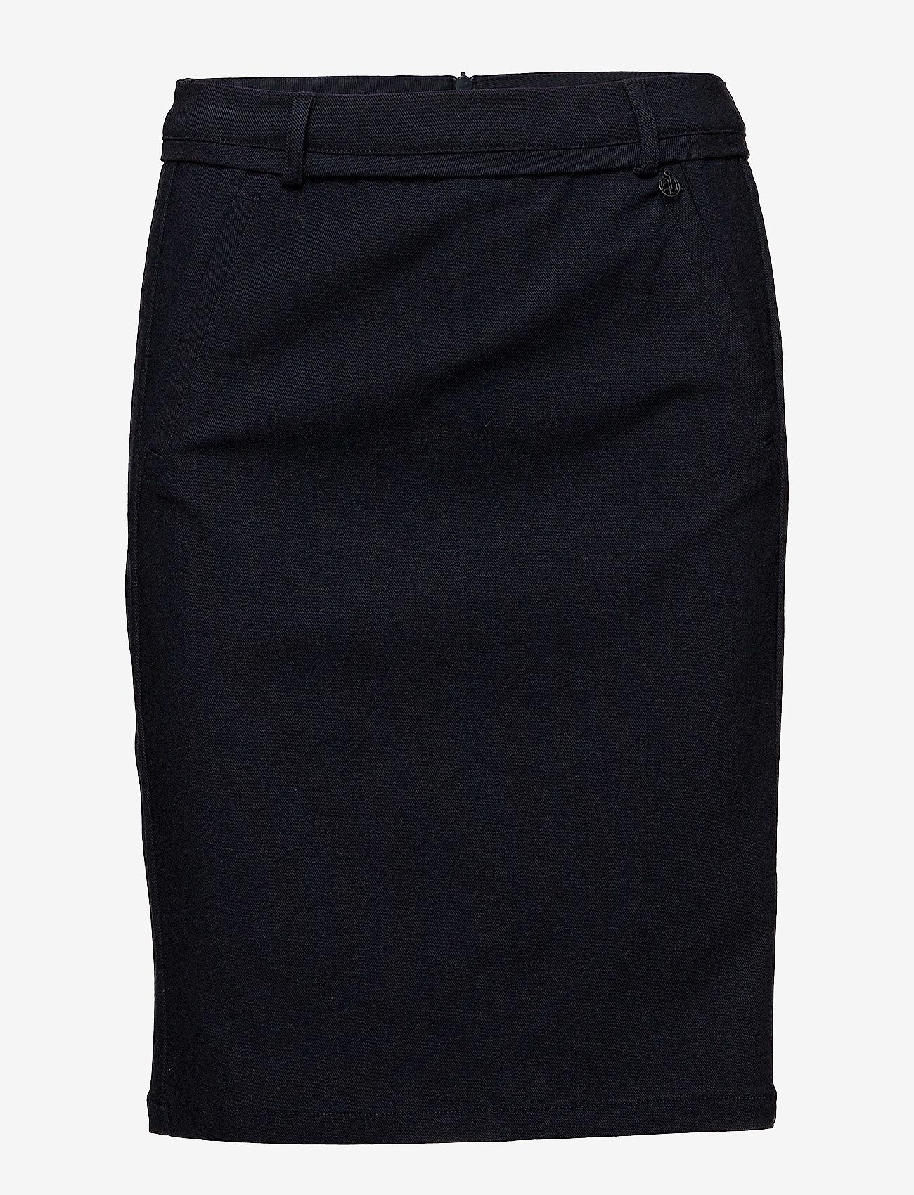 Minus - Carma skirt - midinederdele - black iris - 0
