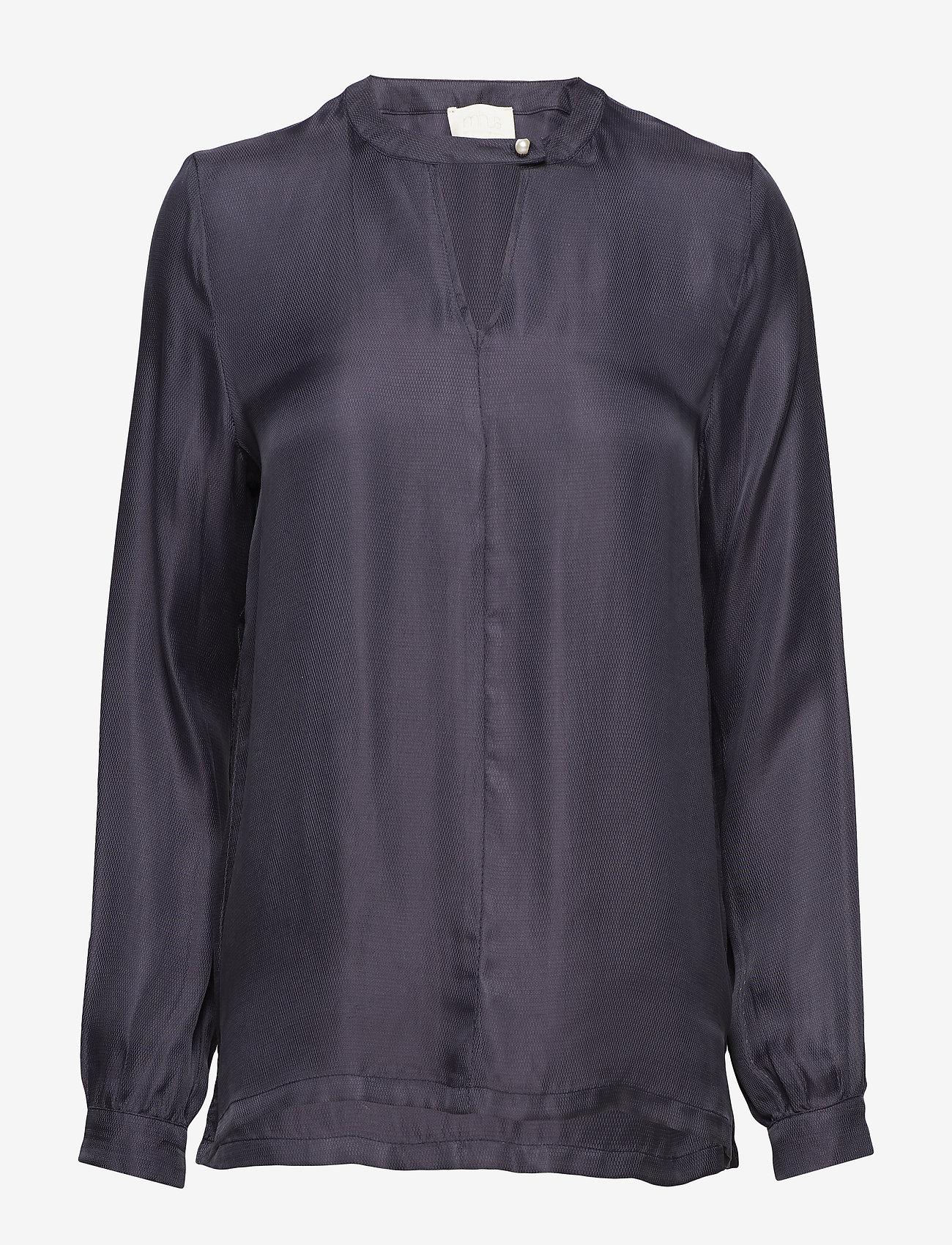 Minus Everly blouse - Blouses & Shirts BLACK IRIS