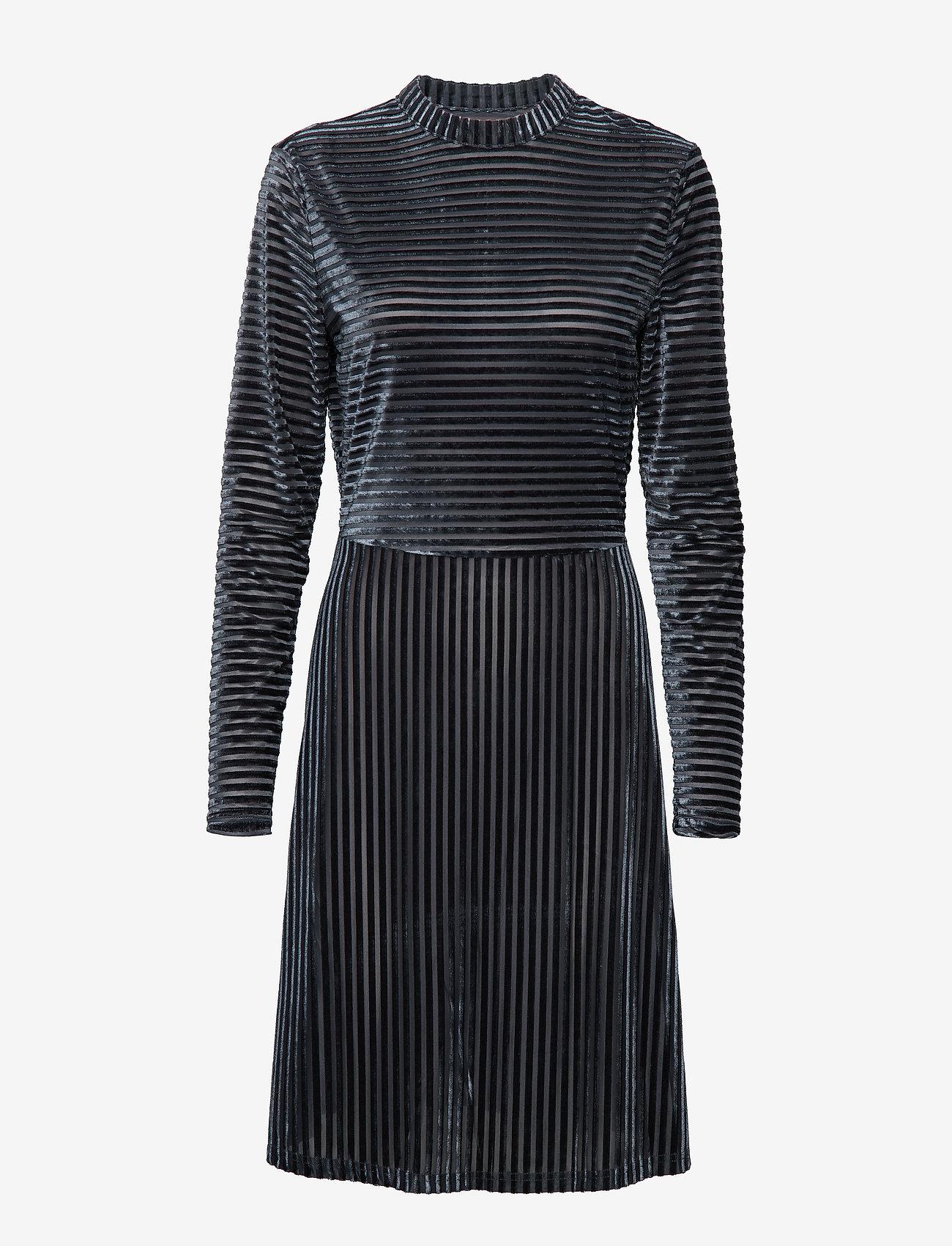 Minus - Kendra dress - robes longeur du midi - charcoal grey