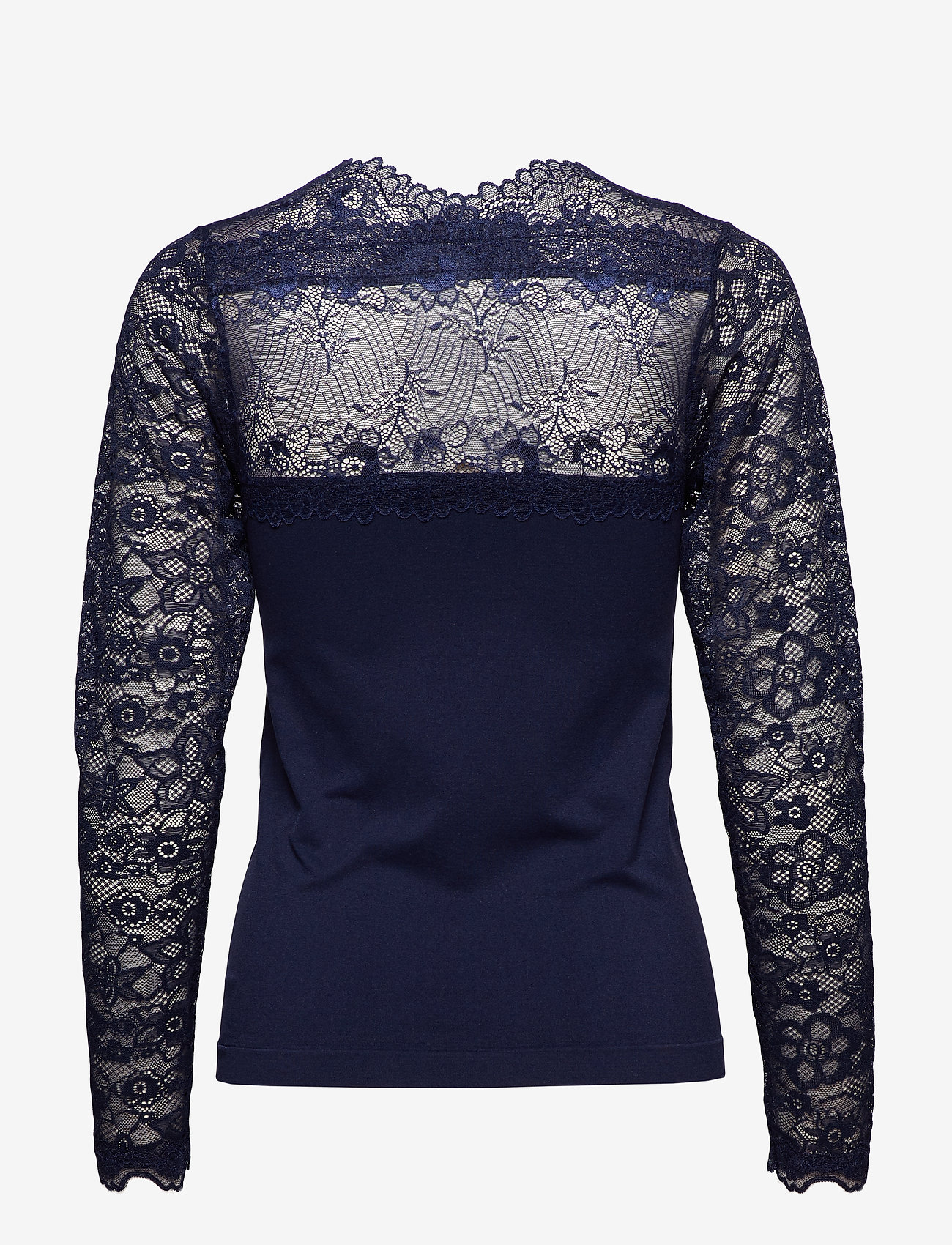 Minus Vanessa V-neck Long Sleeve - Bluzki & Koszule BLACK IRIS - Kobiety Odzież.