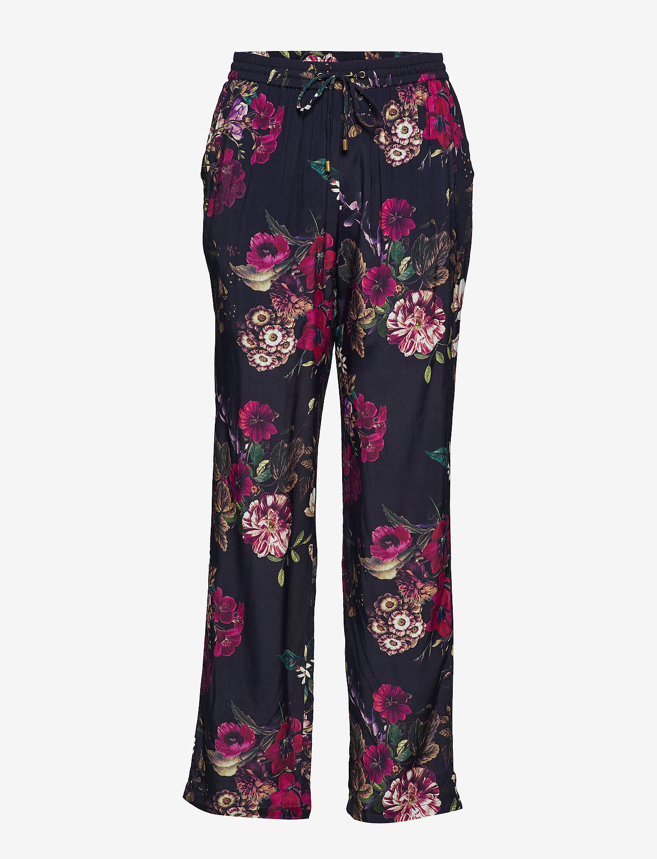 Minus - Evalina pants - straight leg trousers - midnight flower print