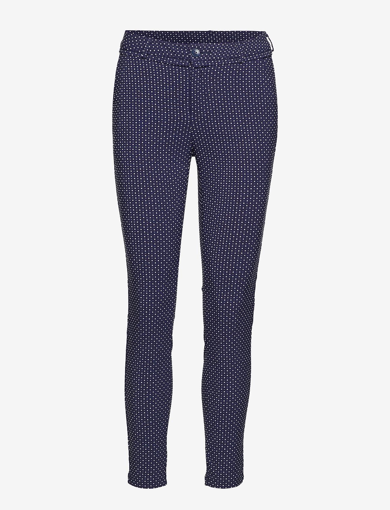 Minus - Carma dot pants 7/8 - broeken med skinny fit - black iris - 1