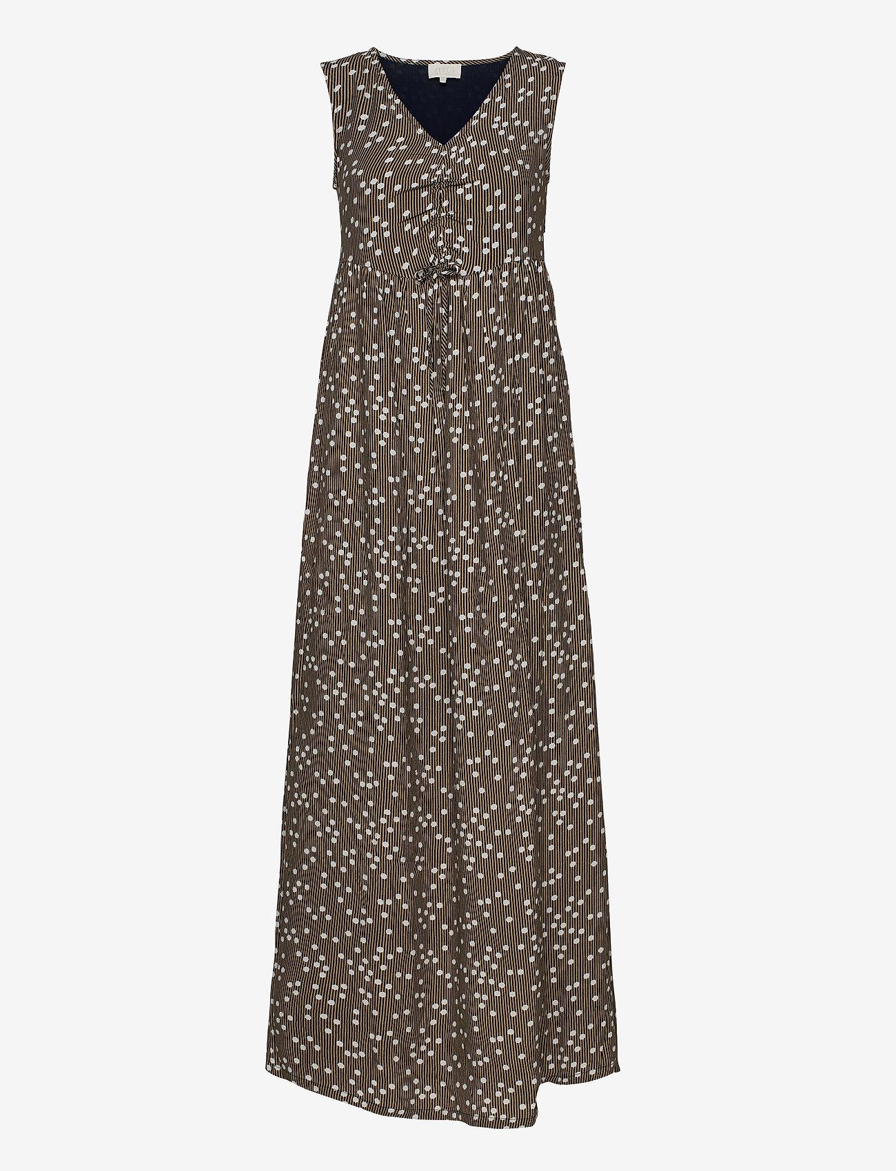 Minus - Adaline dress - sommerkjoler - striped dot - 0