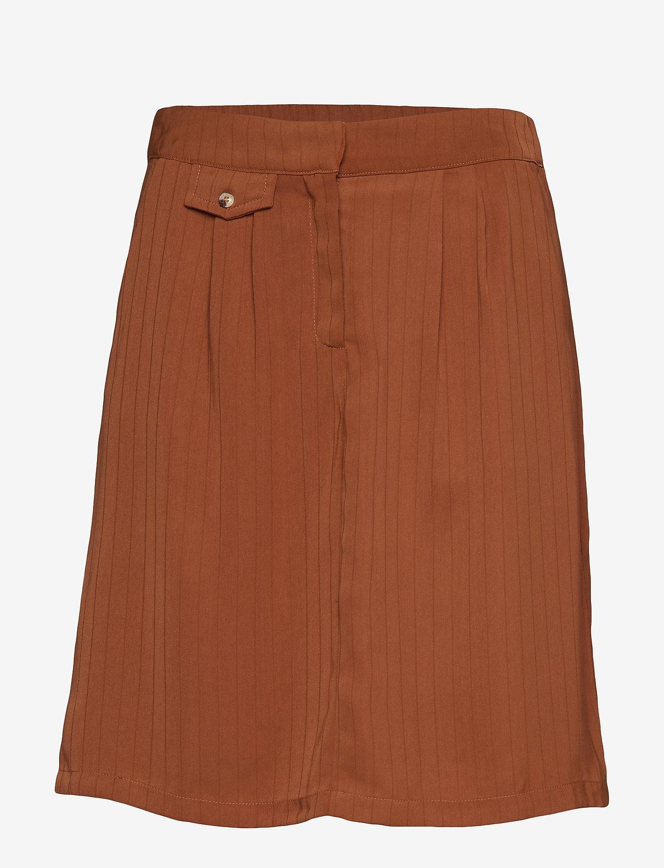 Minus - Lelina skirt - midi skirts - tobacco - 0