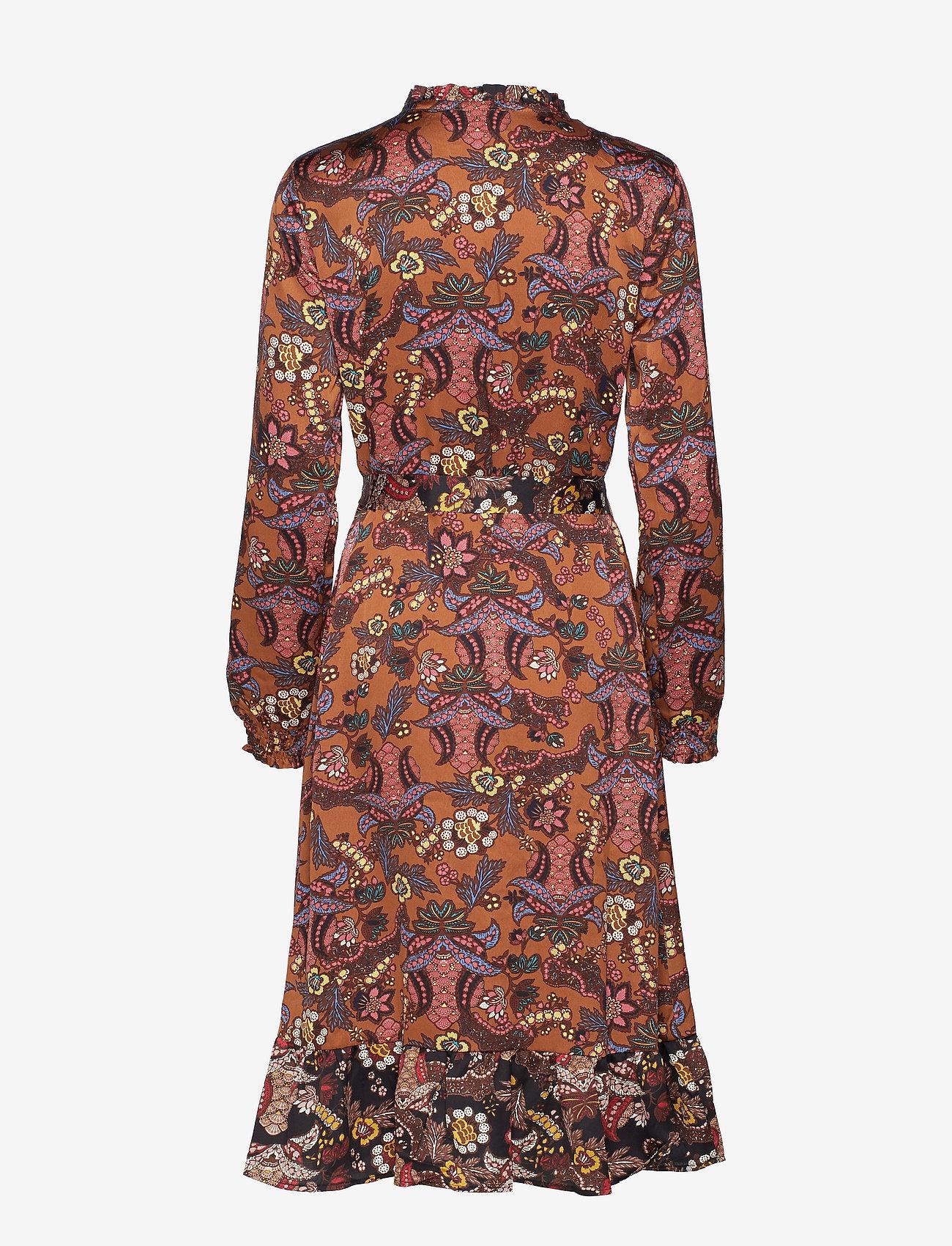 Minus Cardi dress - Sukienki AUTUMN BLOOM TOBACCO PRINT - Kobiety Odzież.