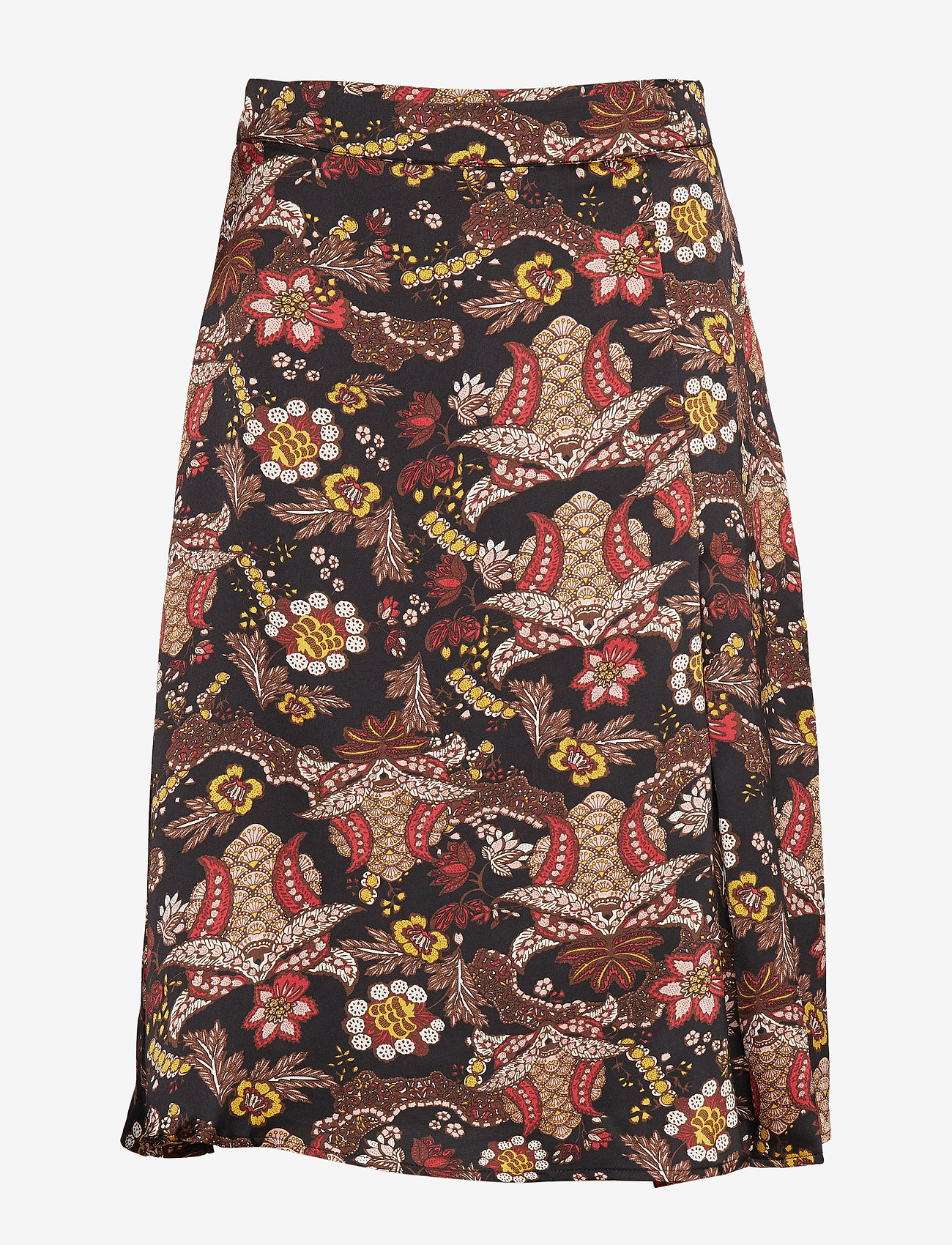 Minus - Cardi skirt - midinederdele - autumn bloom black print - 0
