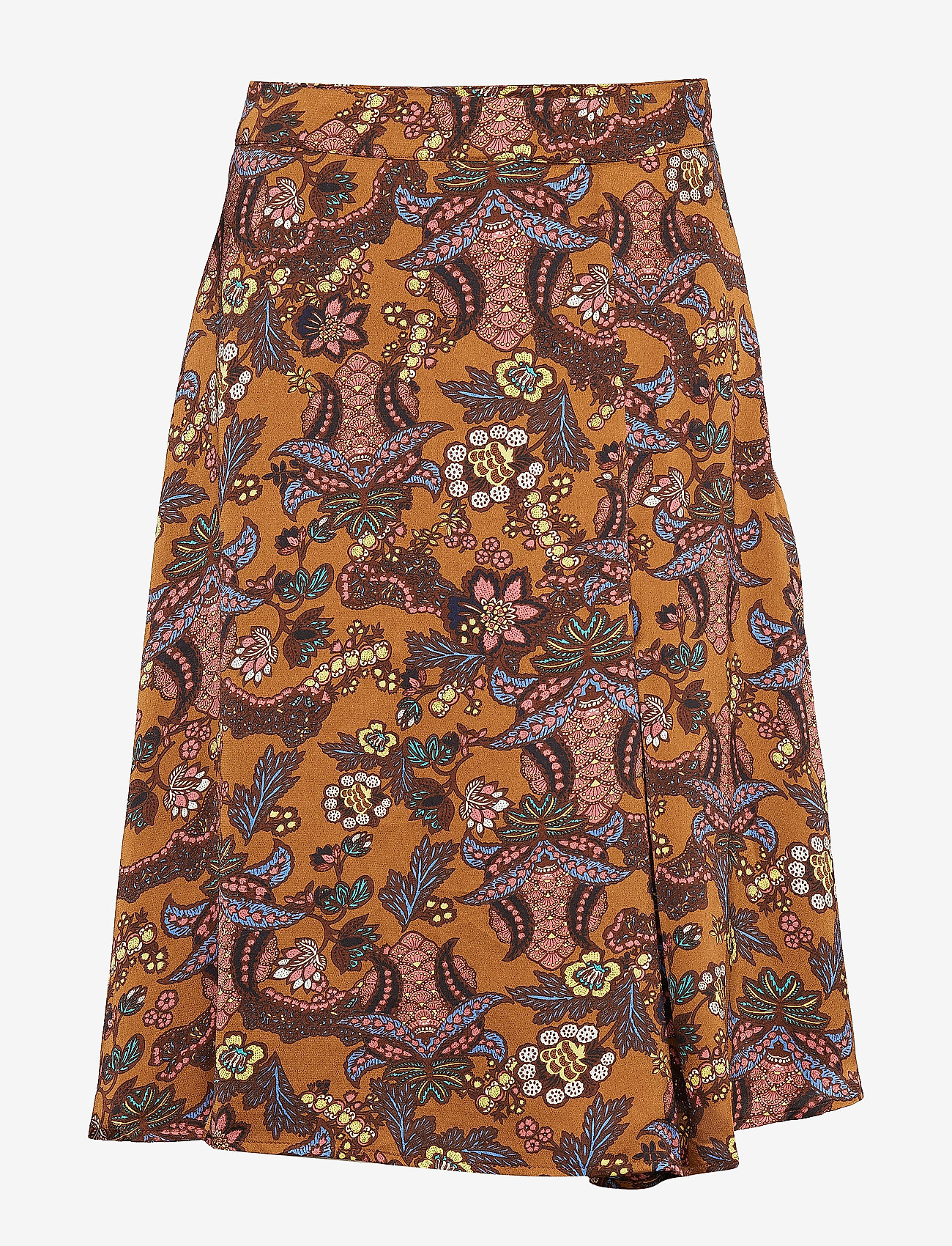 Minus - Cardi skirt - midinederdele - autumn bloom tobacco print - 0