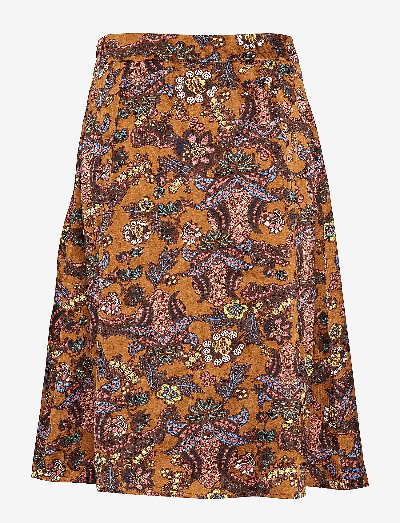 Minus - Cardi skirt - midinederdele - autumn bloom tobacco print - 1