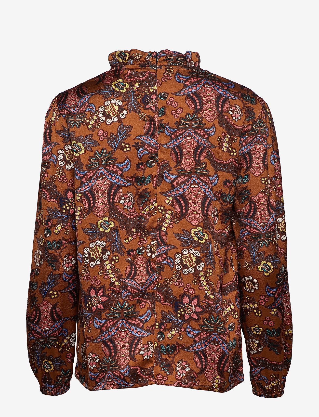 Minus Cardi blouse - Bluzki & Koszule AUTUMN BLOOM TOBACCO PRINT - Kobiety Odzież.