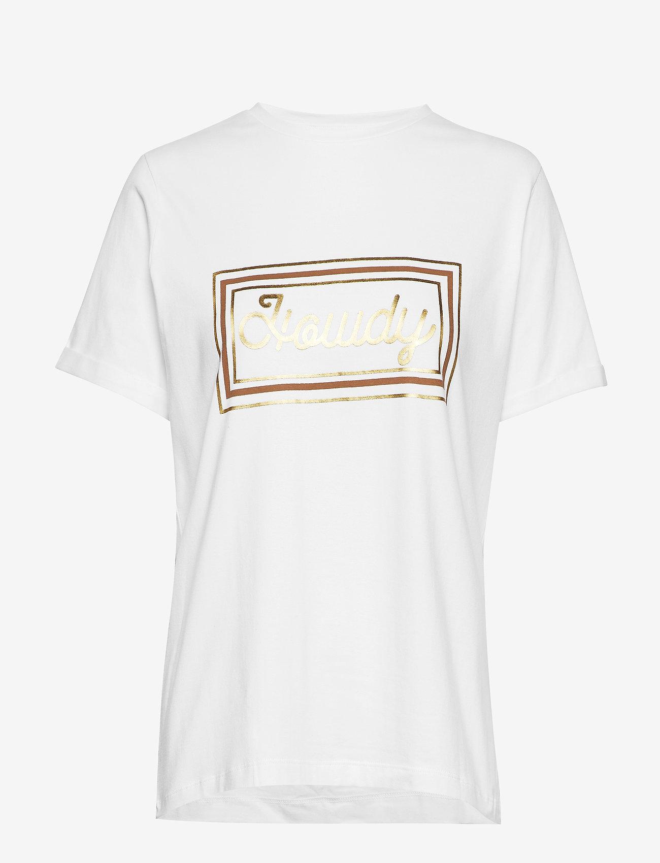 Minus - Gracen tee - t-skjorter med trykk - broken white w/tobacco print - 0