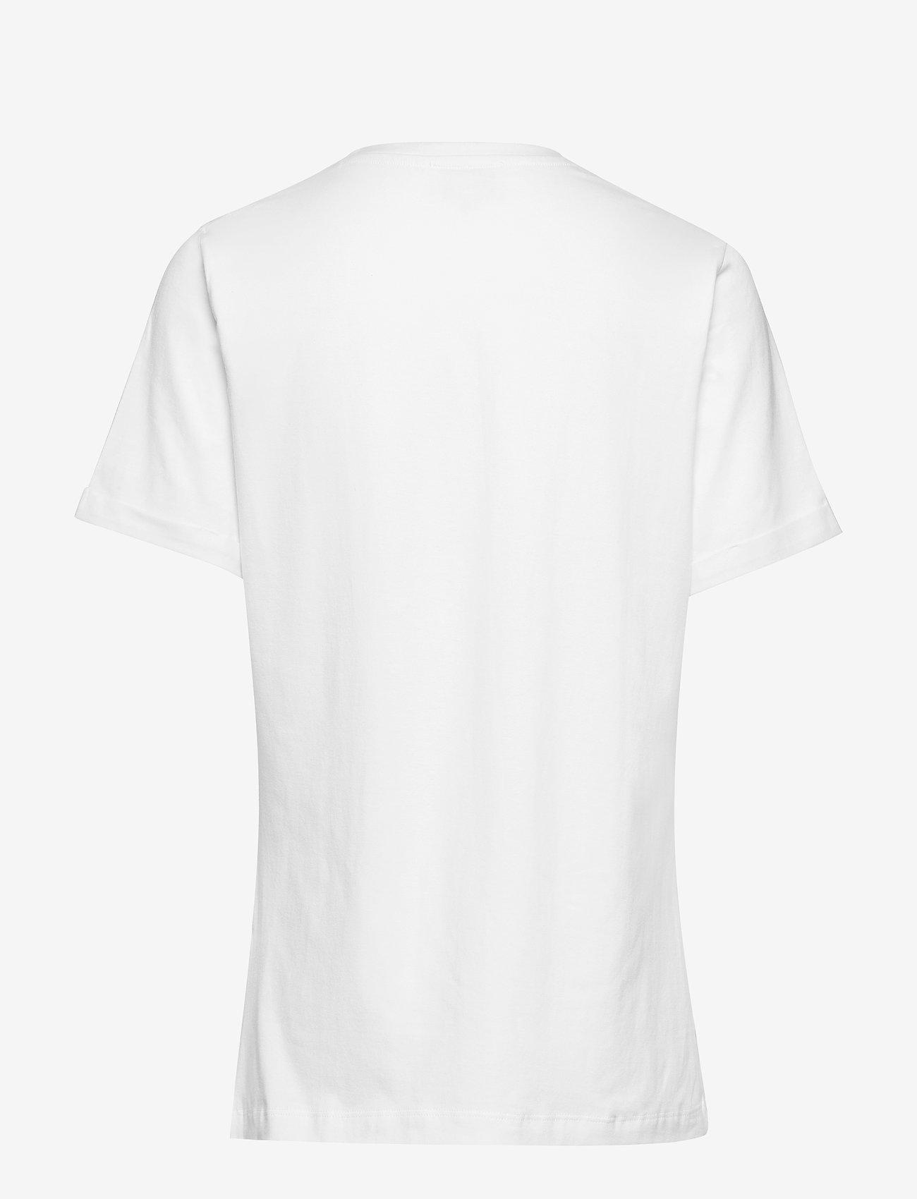 Minus - Gracen tee - t-skjorter med trykk - broken white w/tobacco print - 1