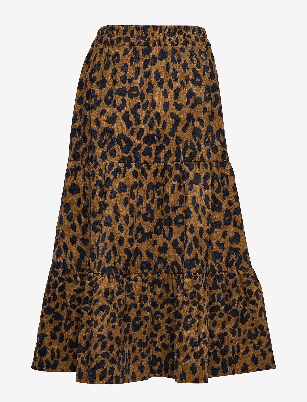 Minus - Olia skirt - midi skirts - brown leo print - 1