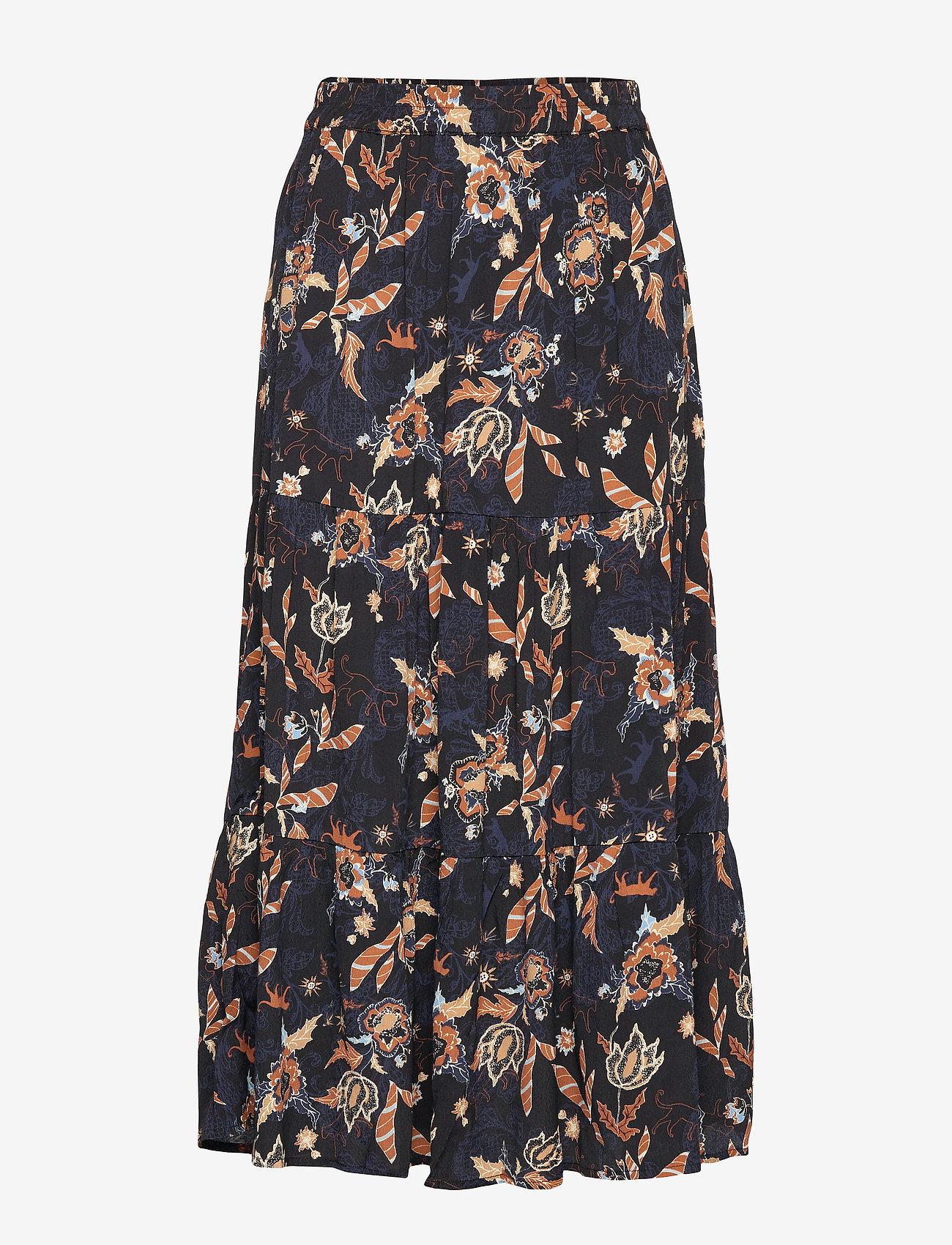 Birla Skirt (Dark Floral Print) - Minus u4zgP8