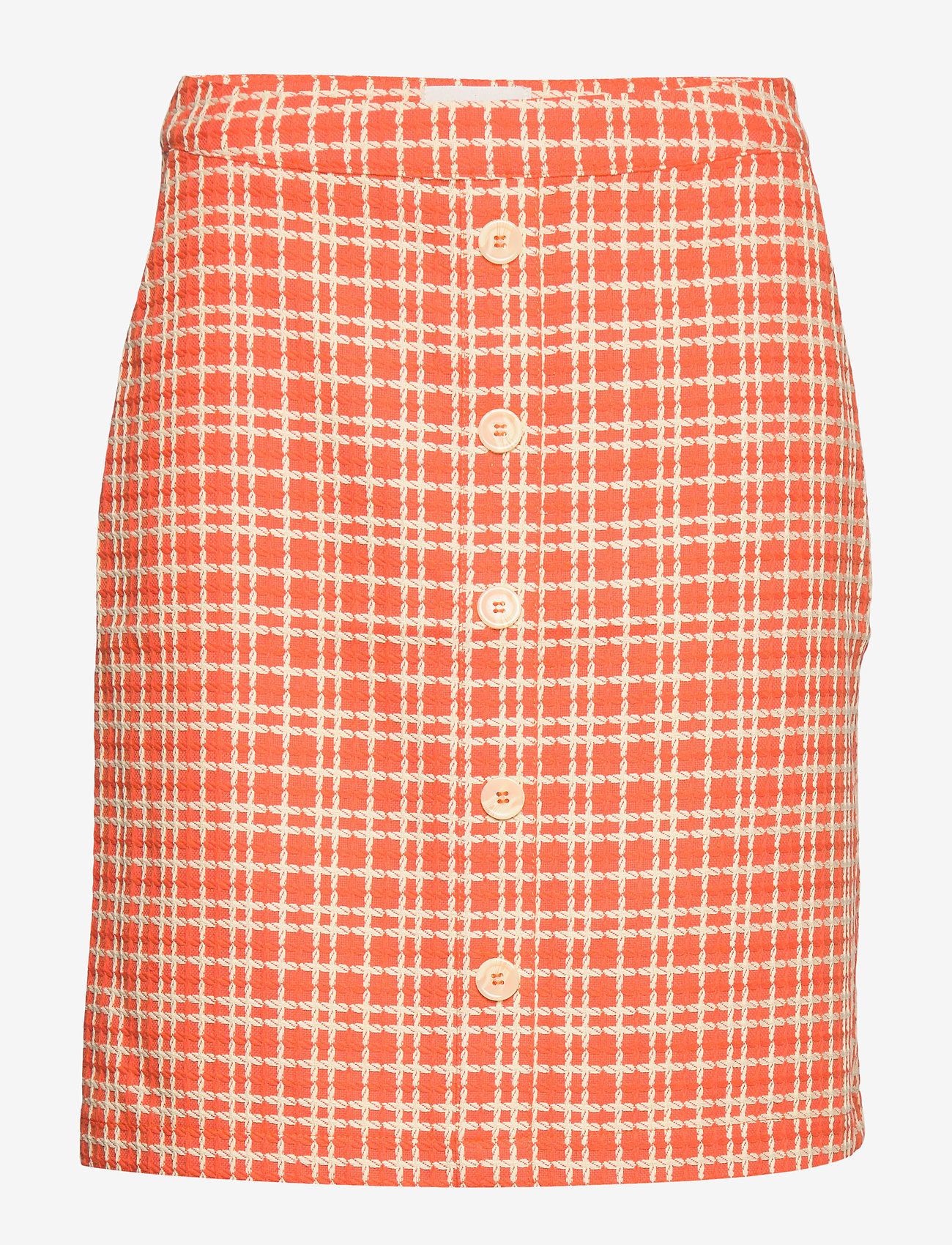 Minus - Nanja skirt - short skirts - chili checked - 0