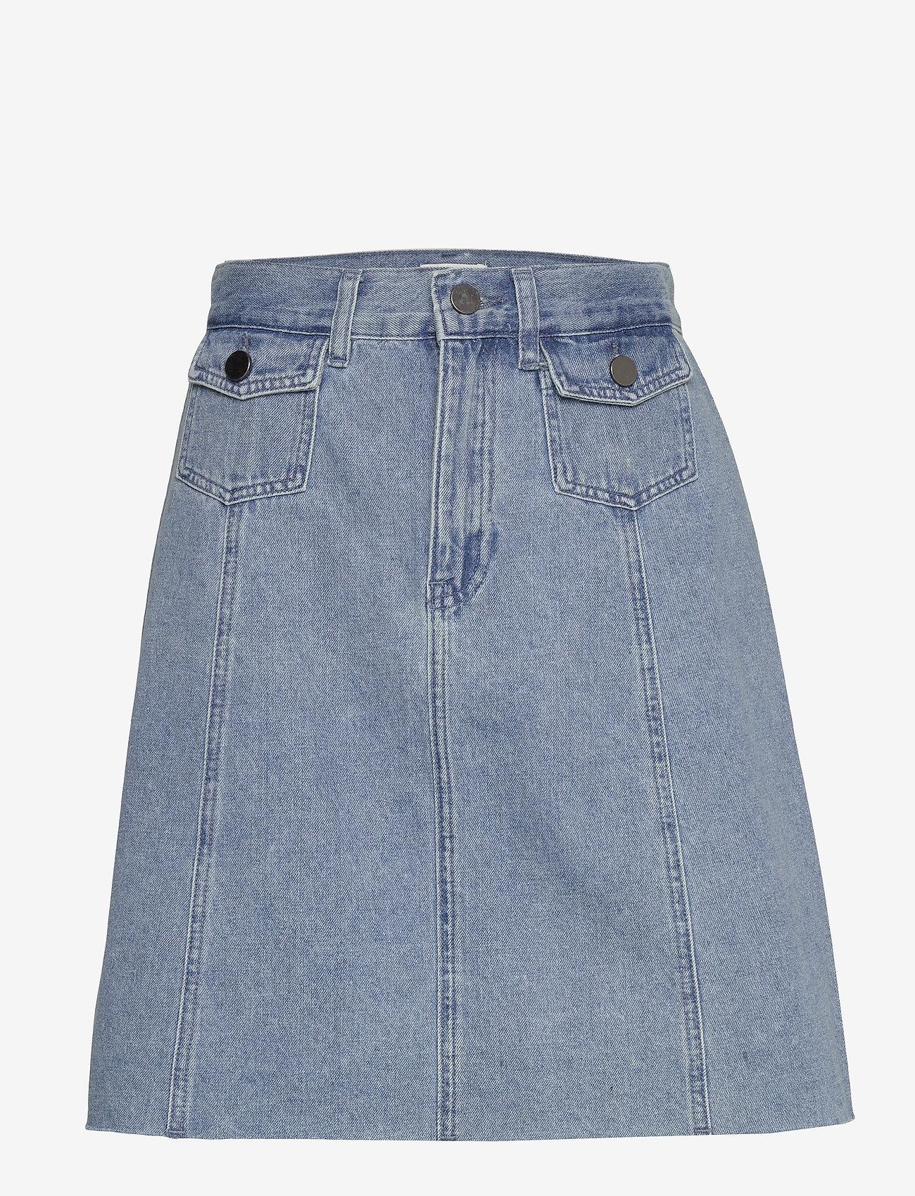 Minus - Lucca denim skirt - jupes en jeans - denim melange - 1
