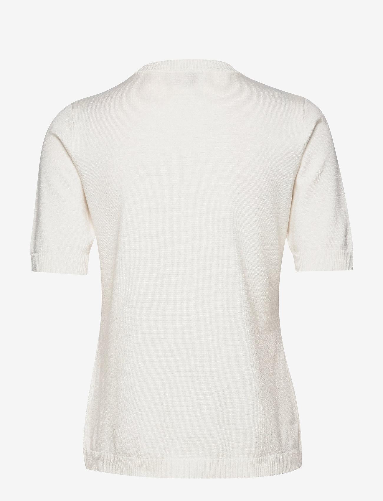 Minus - Pamela knit tee - gebreide t-shirts - broken white - 1