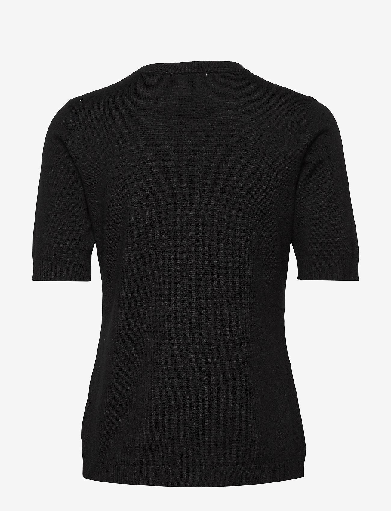 Minus - Pamela knit tee - gebreide t-shirts - sort - 1