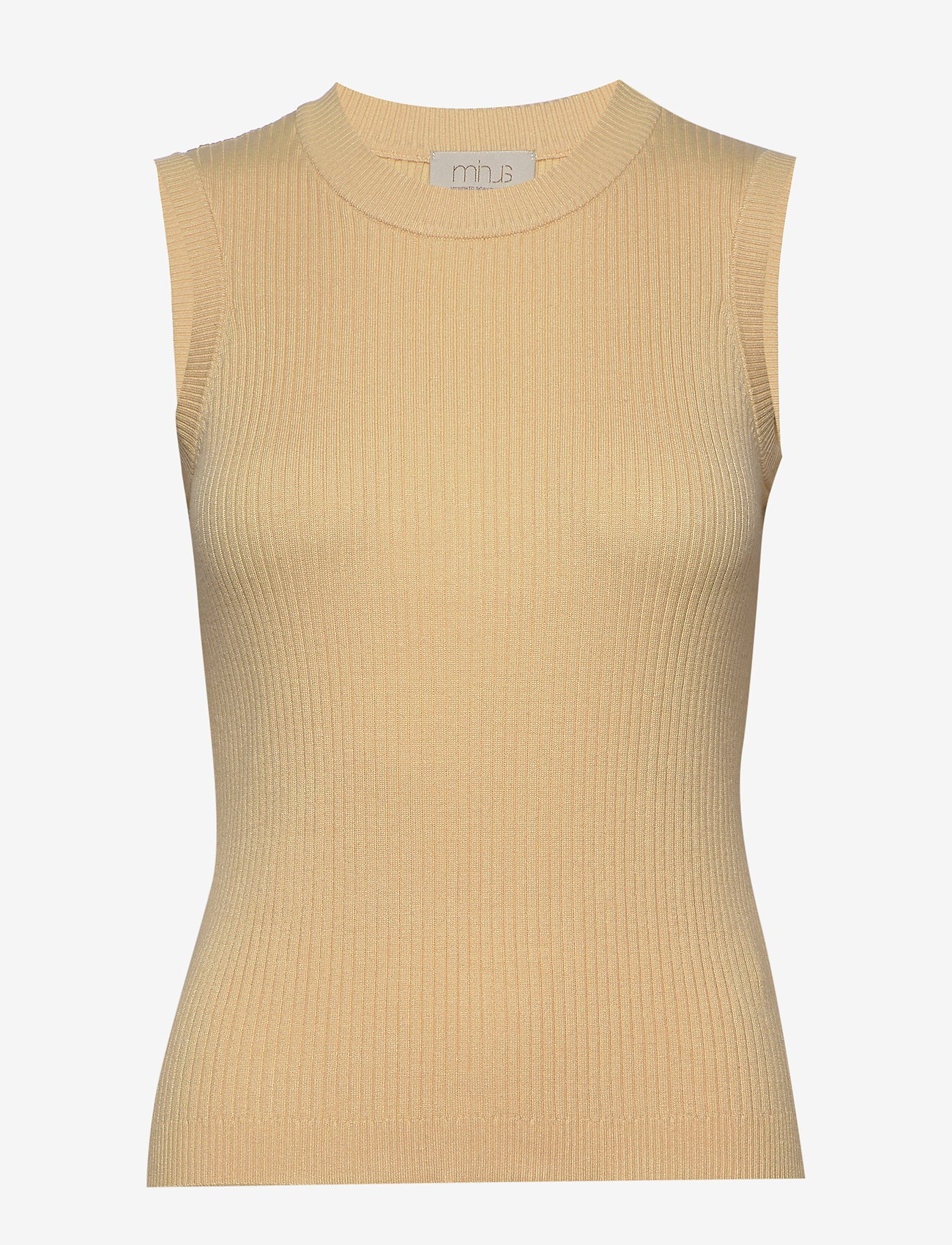 Minus - Arina knit top - strikkede toppe - vanilla - 0