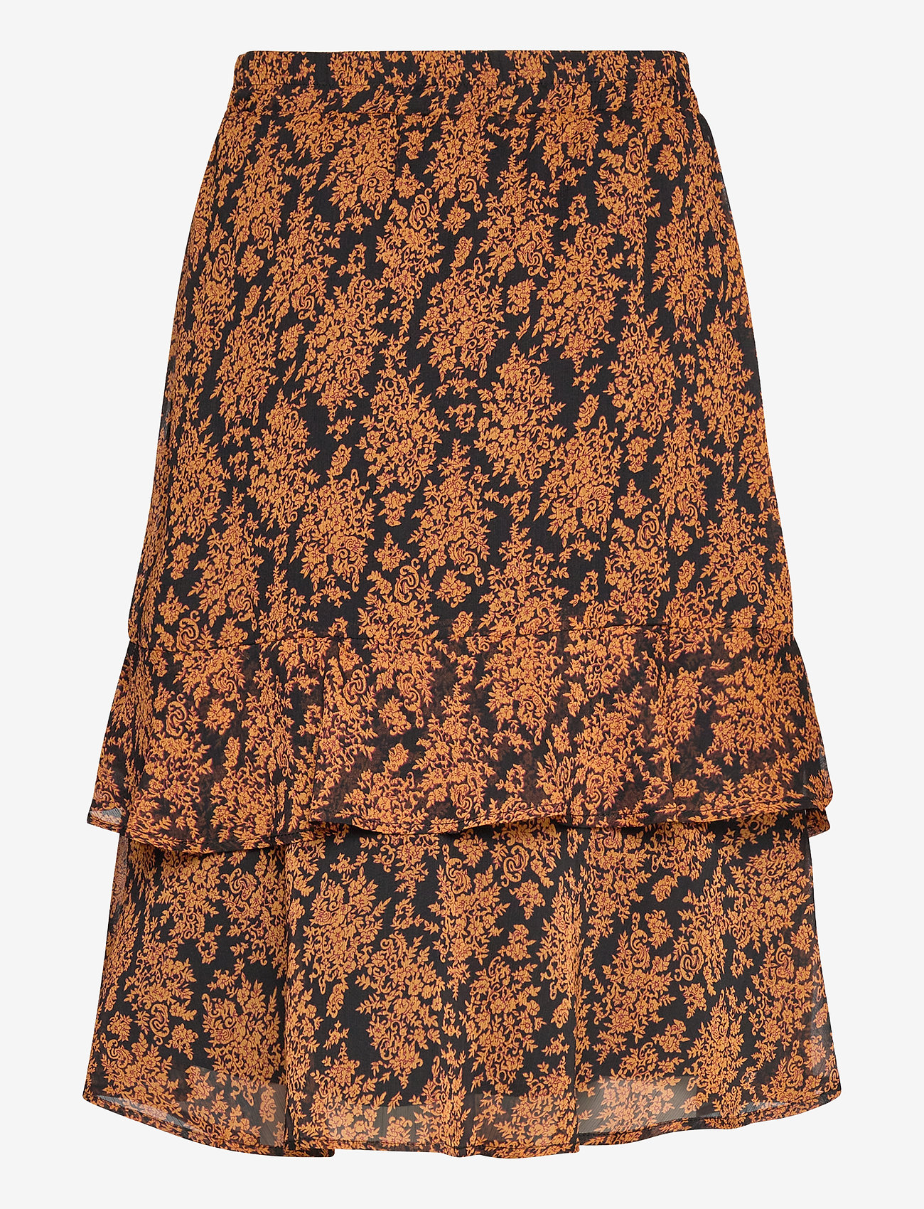 Leyla Skirt (Orange Sunset Flower Print) - Minus YQtt65