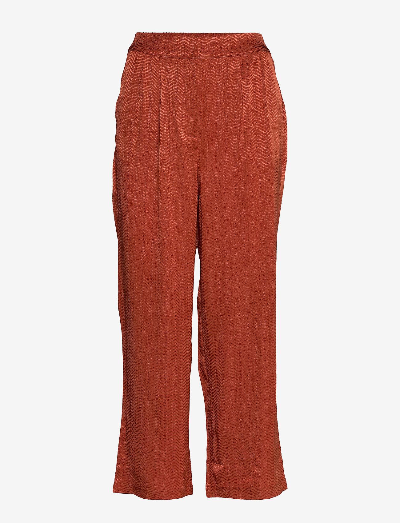 Minus - Sanja pants - bukser med brede ben - safran - 0