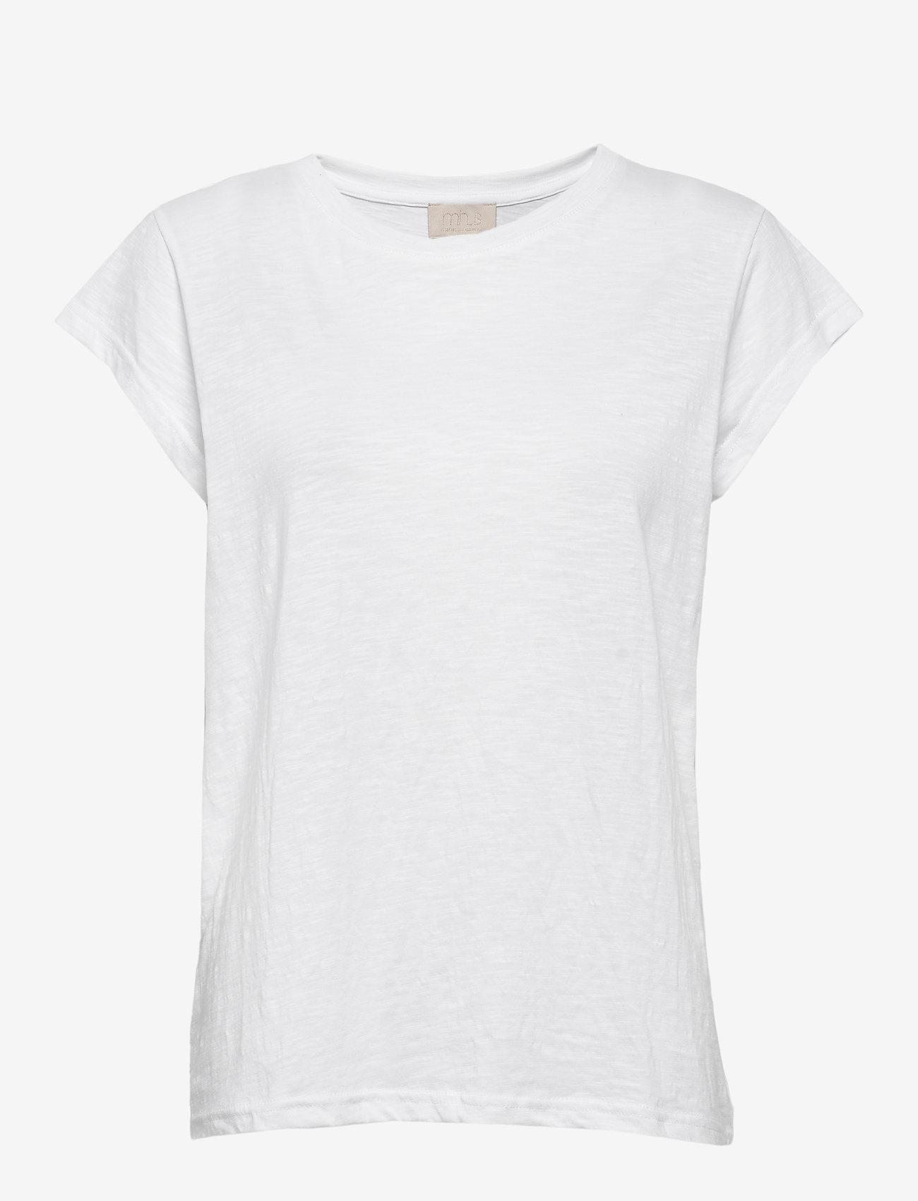 Minus - Leti tee - t-shirts - white - 0