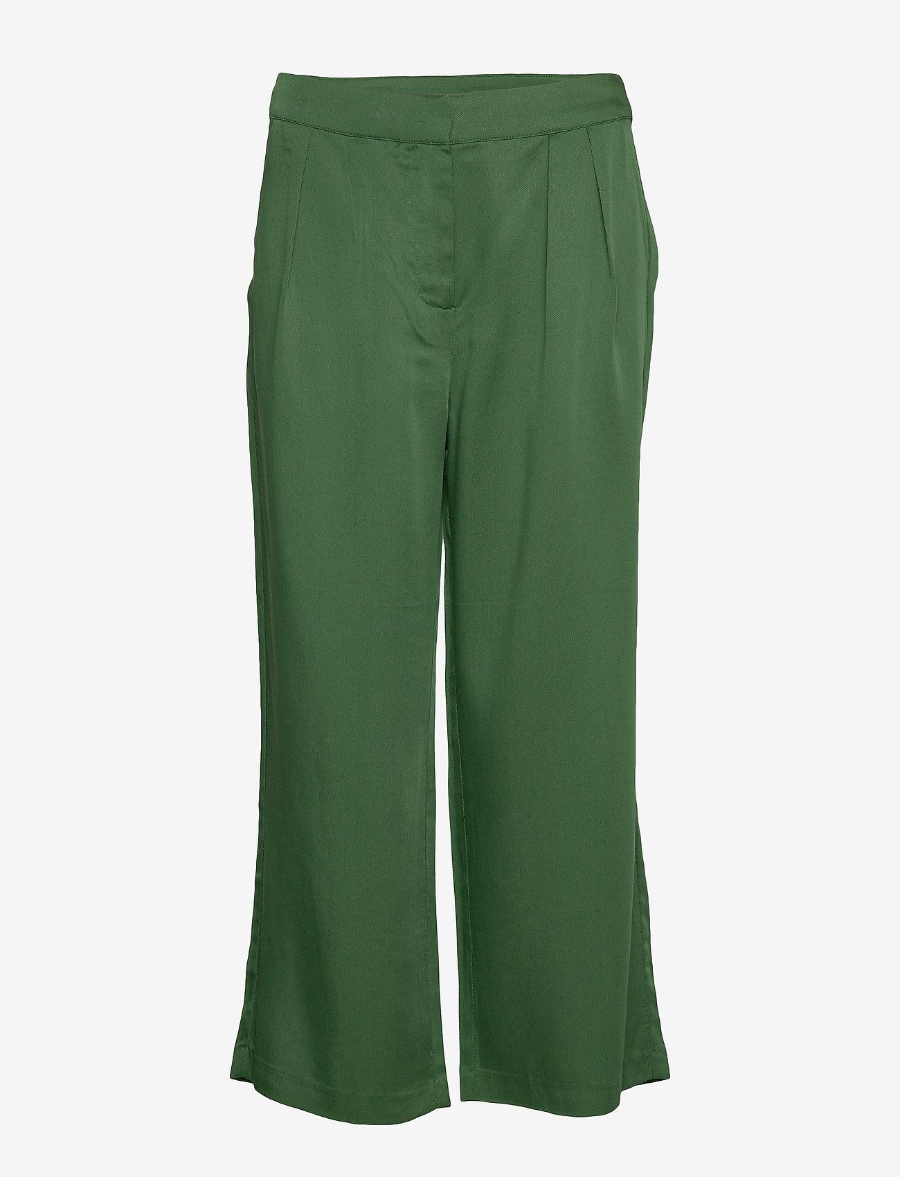Minus - Emissa pants culotte - bukser med brede ben - palm tree - 0