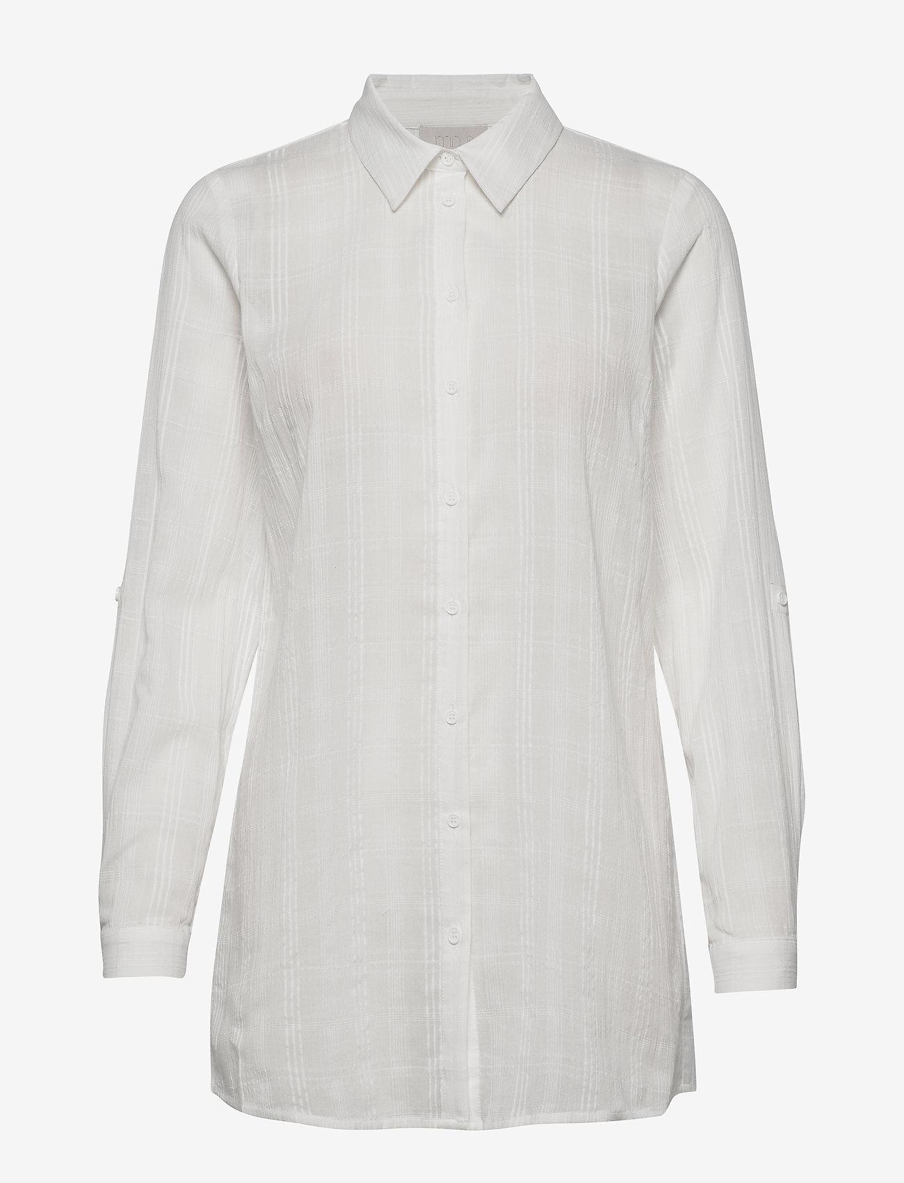 Minus - Melfi shirt - chemises à manches longues - cloud dancer - 0