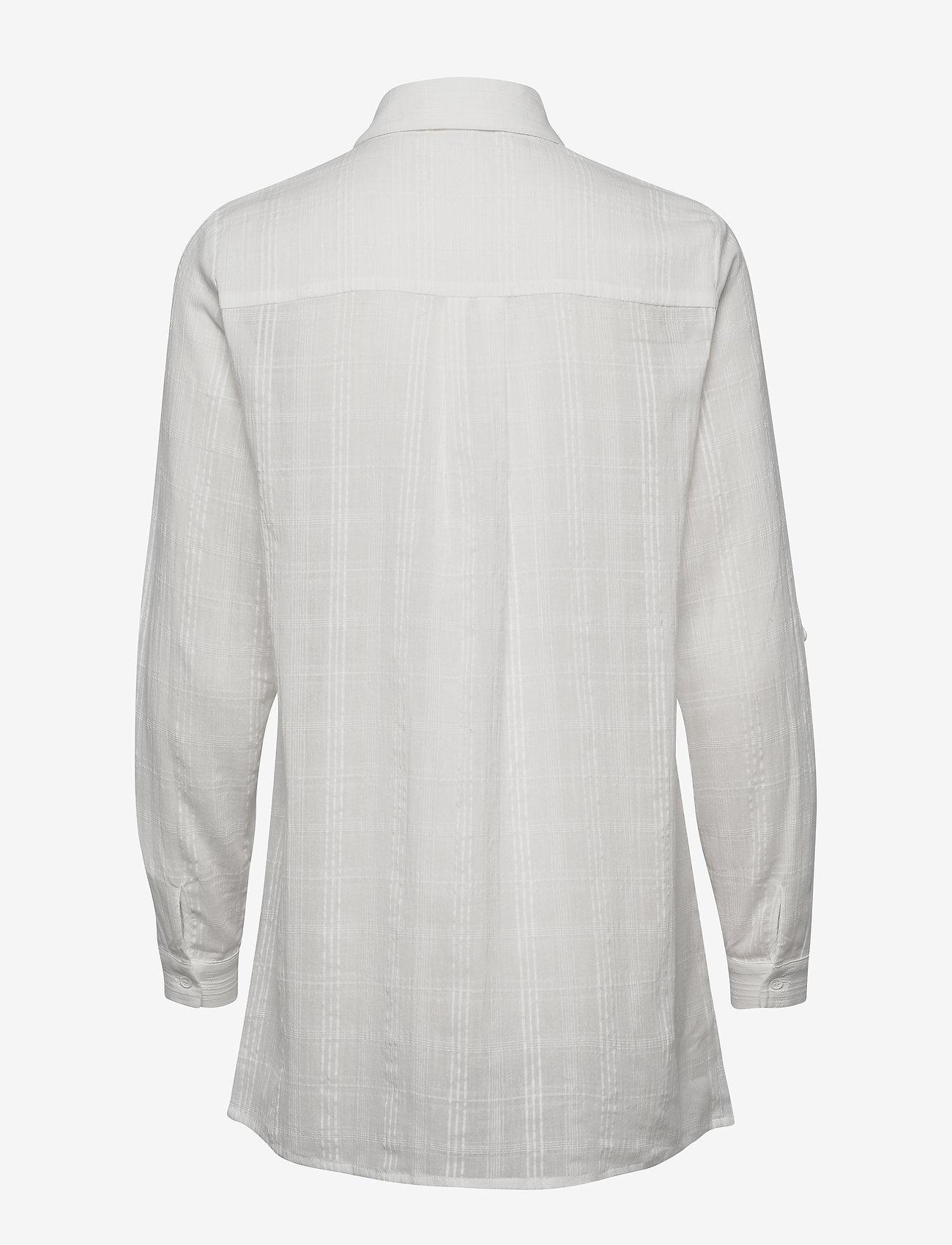 Minus - Melfi shirt - chemises à manches longues - cloud dancer - 1