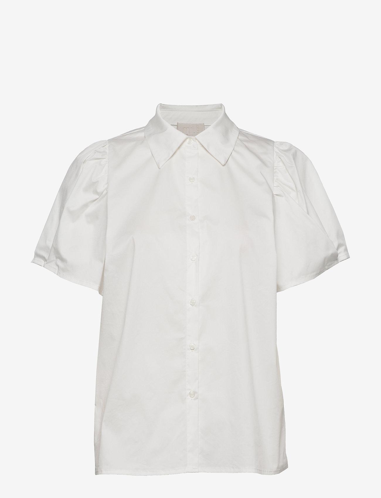 Minus - Elaisa shirt - chemises à manches courtes - cloud dancer - 0