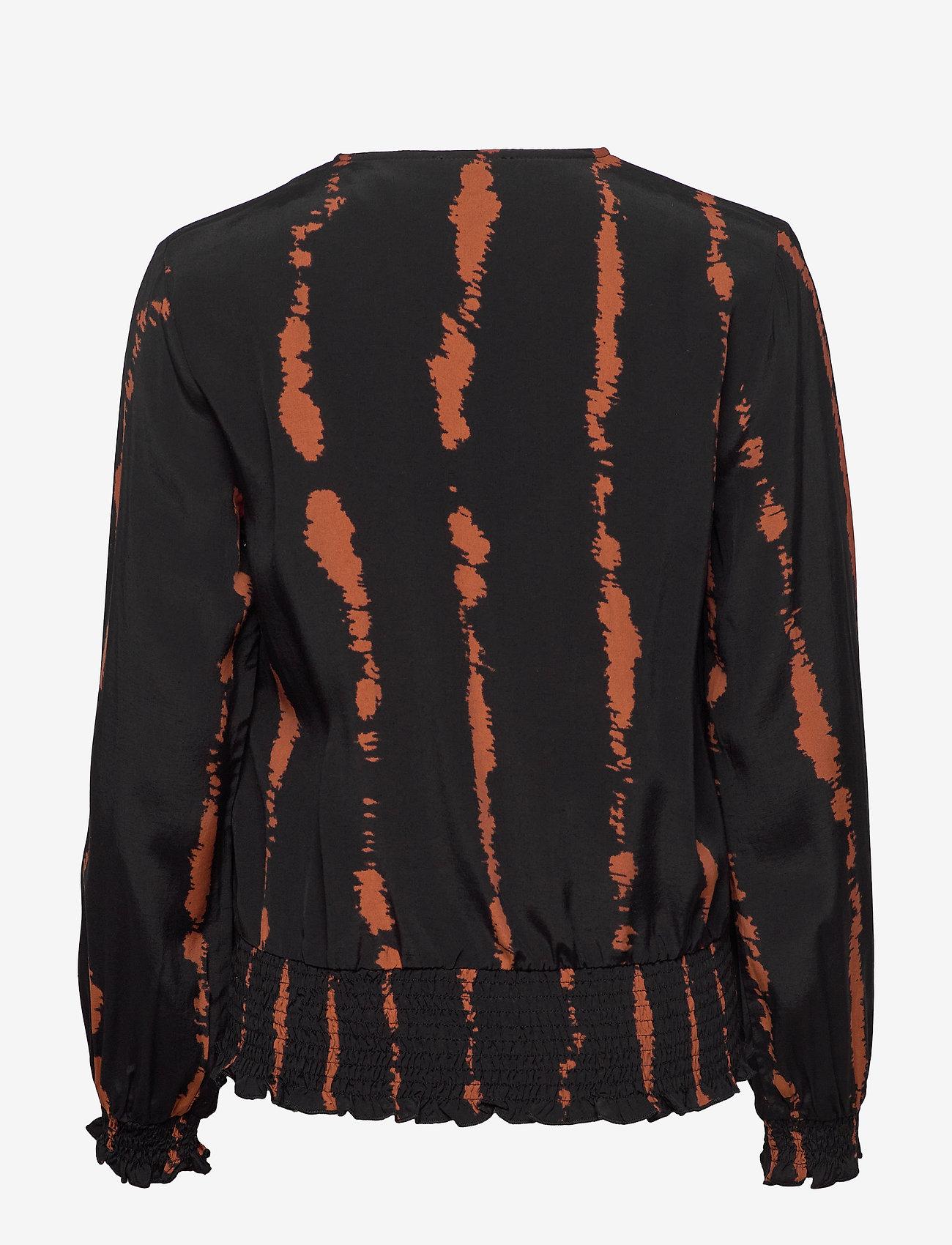 Vally Blouse (Brown Sugar Tie Dye Print) - Minus wEtQ7C