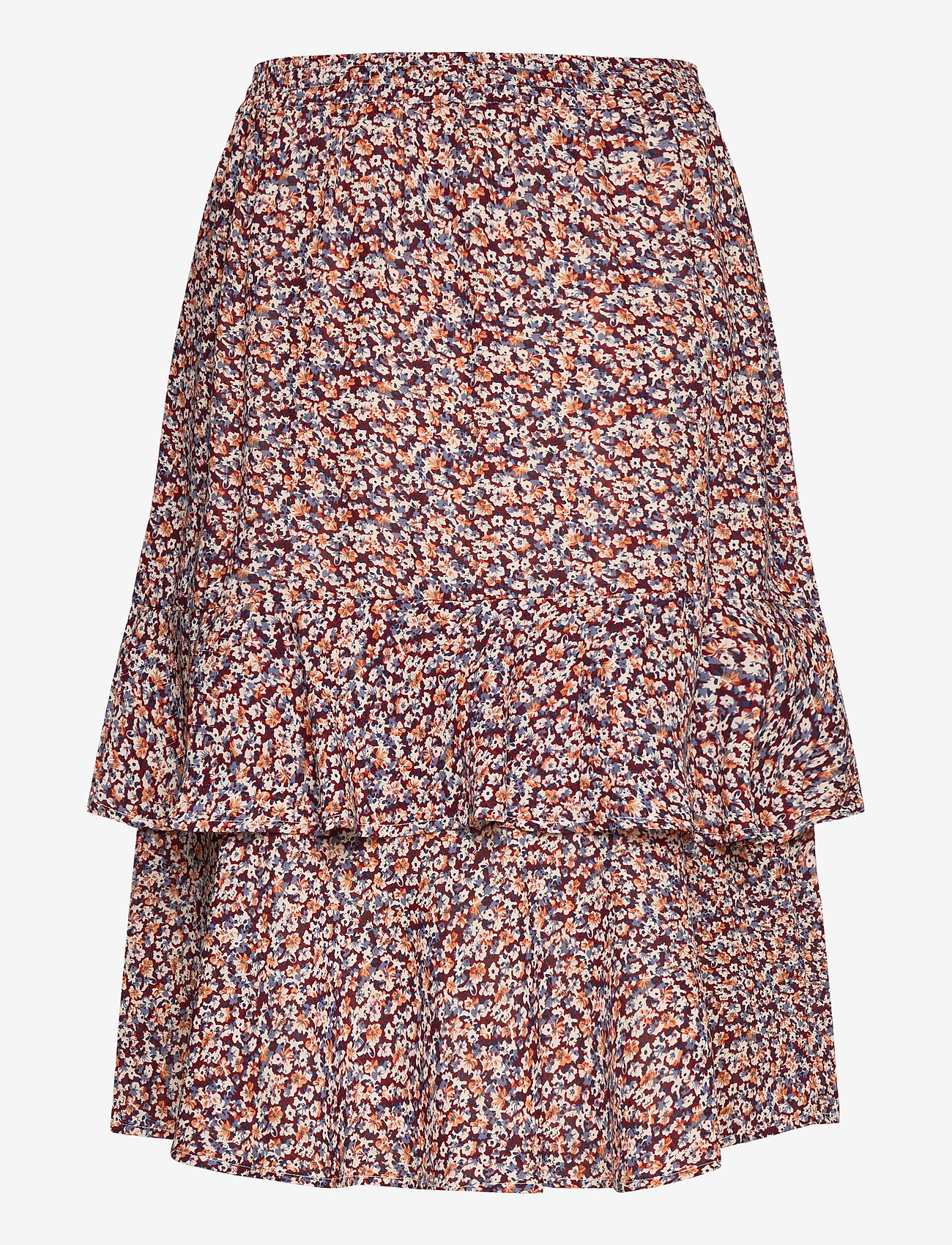 Minus - Vallie skirt - midinederdele - fiery flower print - 1