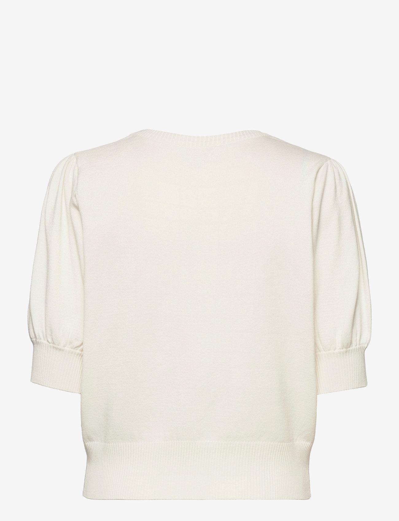 Minus - Liva knit tee - strikkede toppe - broken white - 1